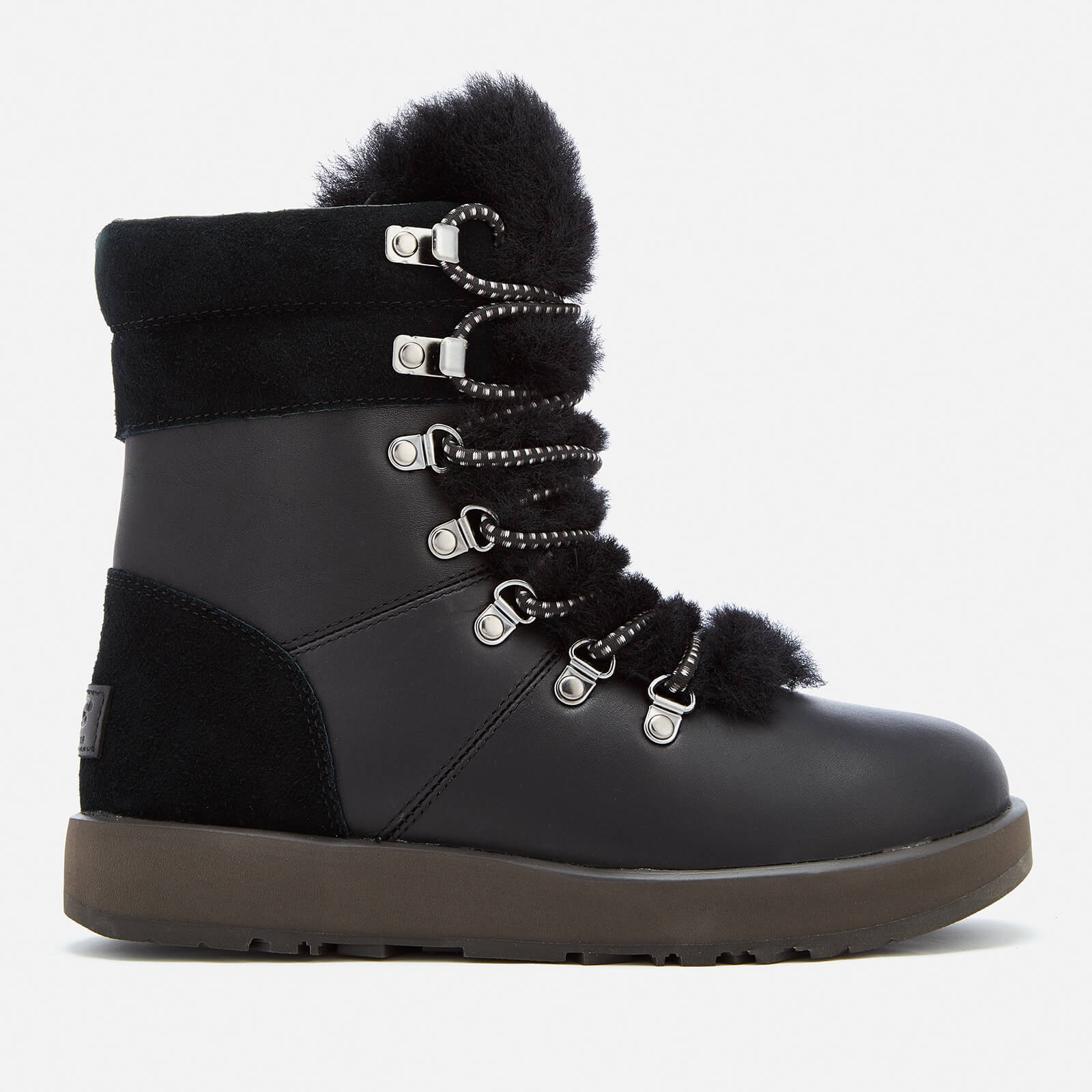 c8b38a607d9 UGG Women's Viki Waterproof Leather Lace Up Boots - Black