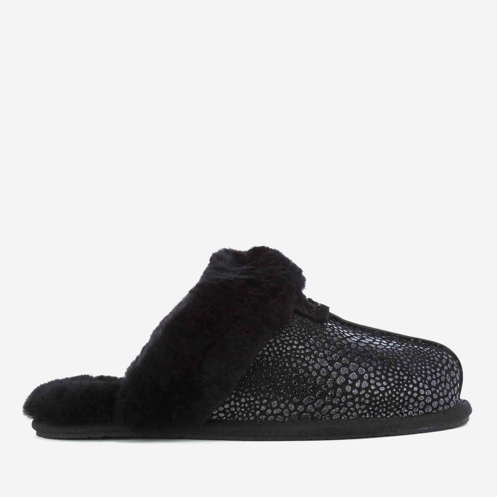 261a615c62f UGG Women's Scuffette II Glitzy Sheepskin Slippers - Black