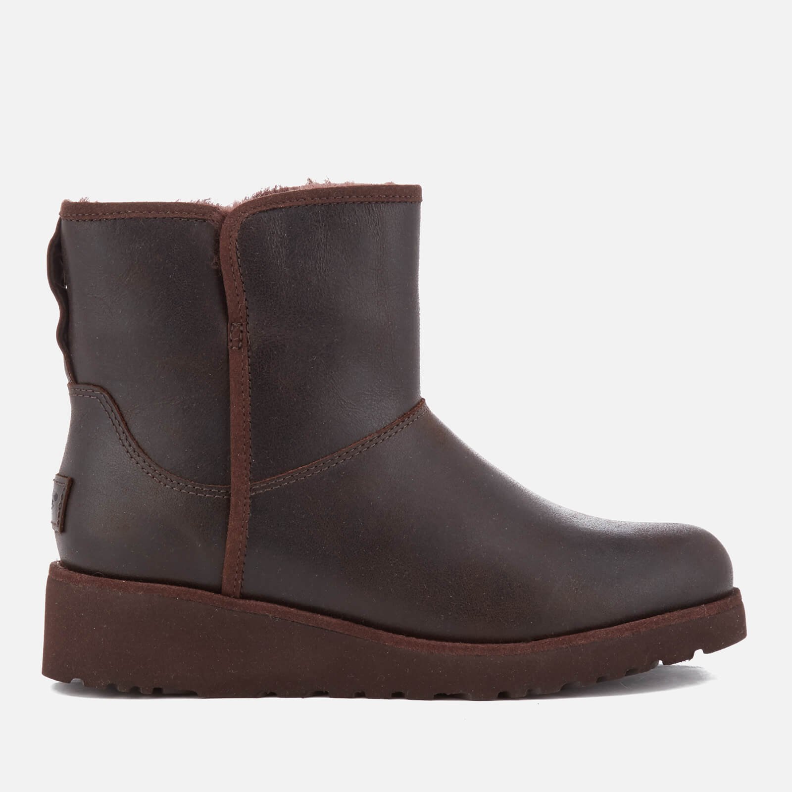 4f1975b7ffd UGG Women s Kristin Classic Slim Leather Sheepskin Boots - Stout - Free UK  Delivery over £50