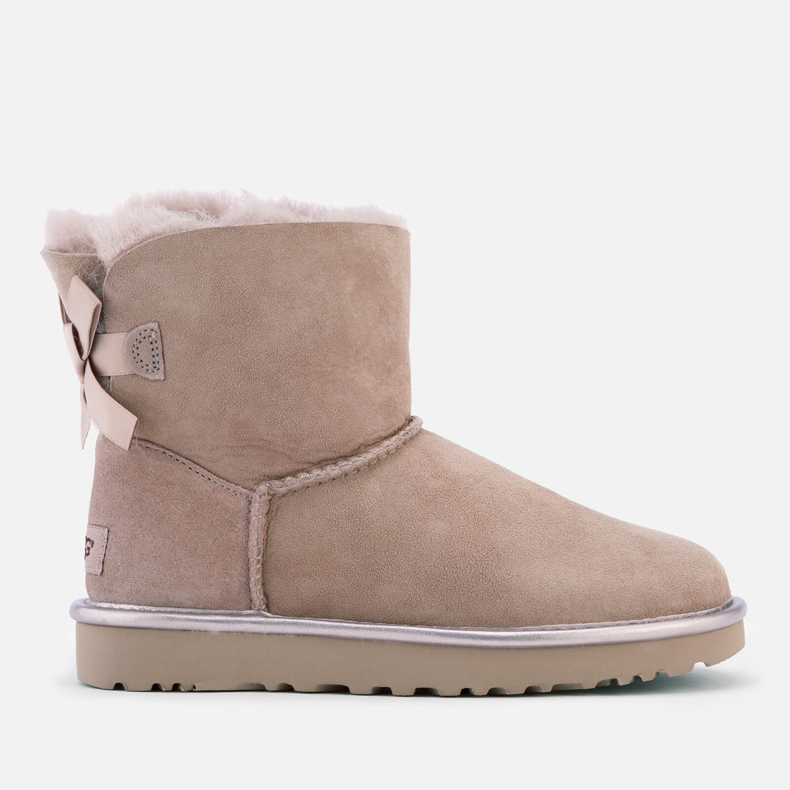 e05084281 UGG Women's Mini Bailey Bow II Metallic Sheepskin Boots - Dusk Womens  Footwear | TheHut.com