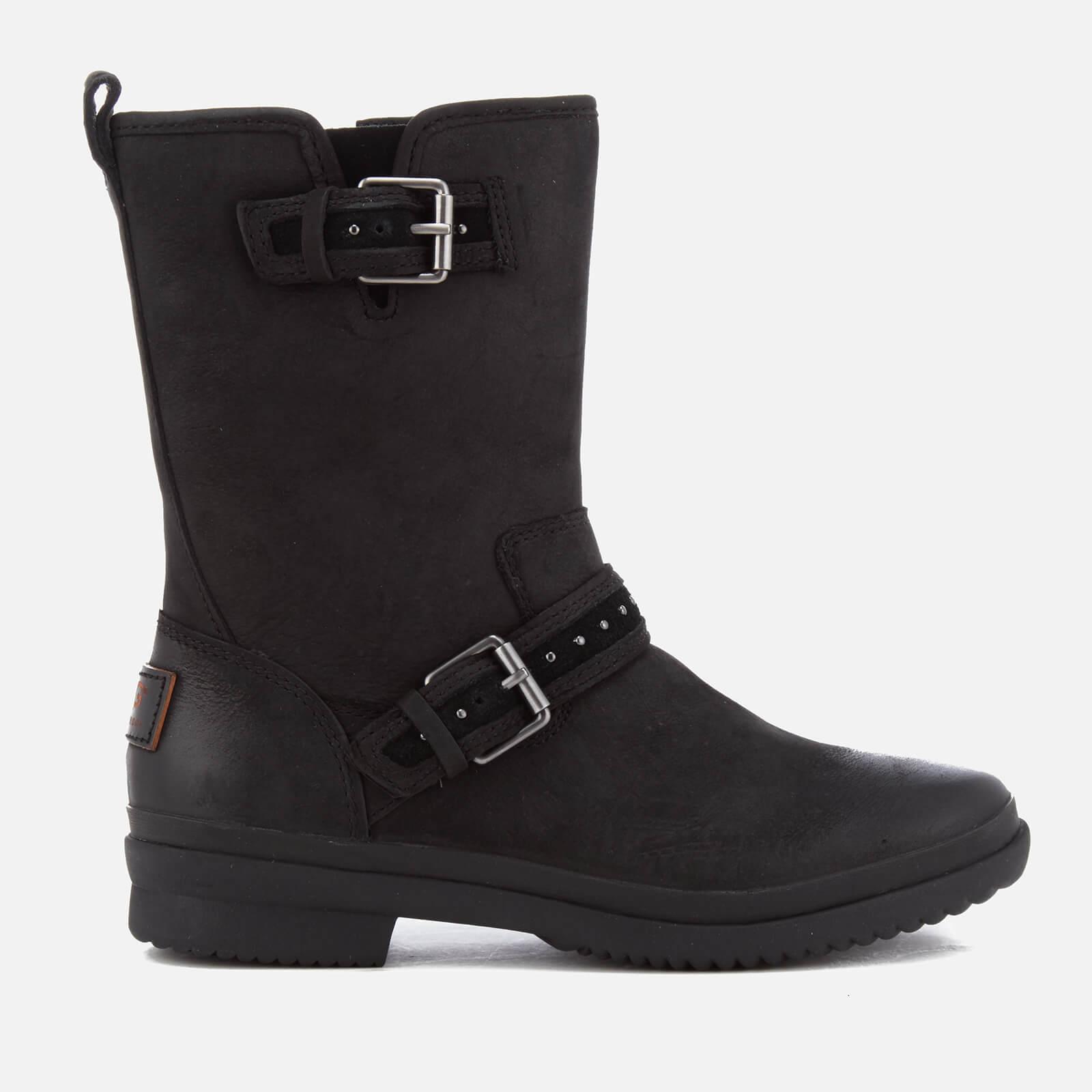 22cbf72eb5c UGG Women's Jenise Waterproof Leather Biker Boots - Black