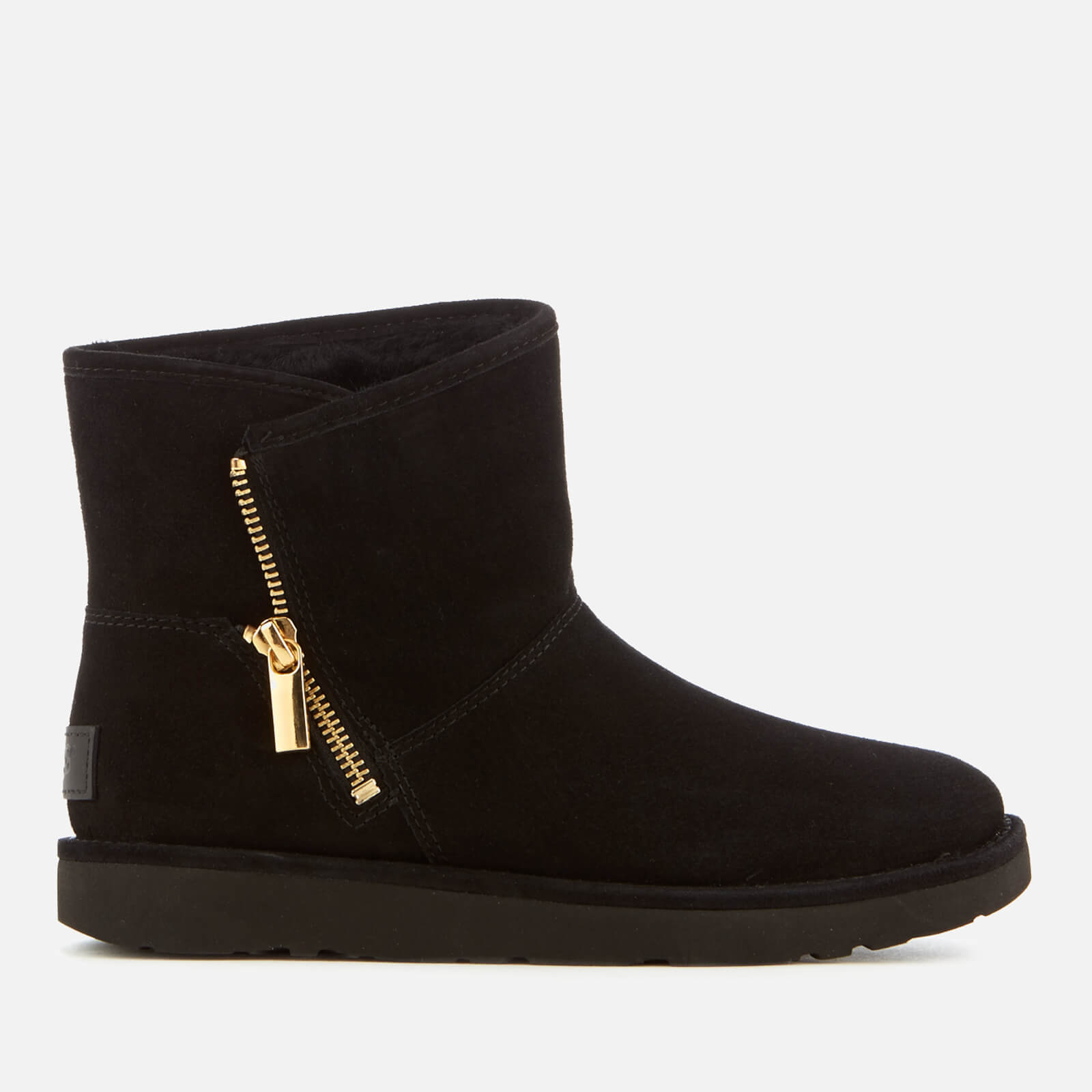 cd4bfb8b762a9 UGG Women's Kip Suede Zip Side Boots - Nero
