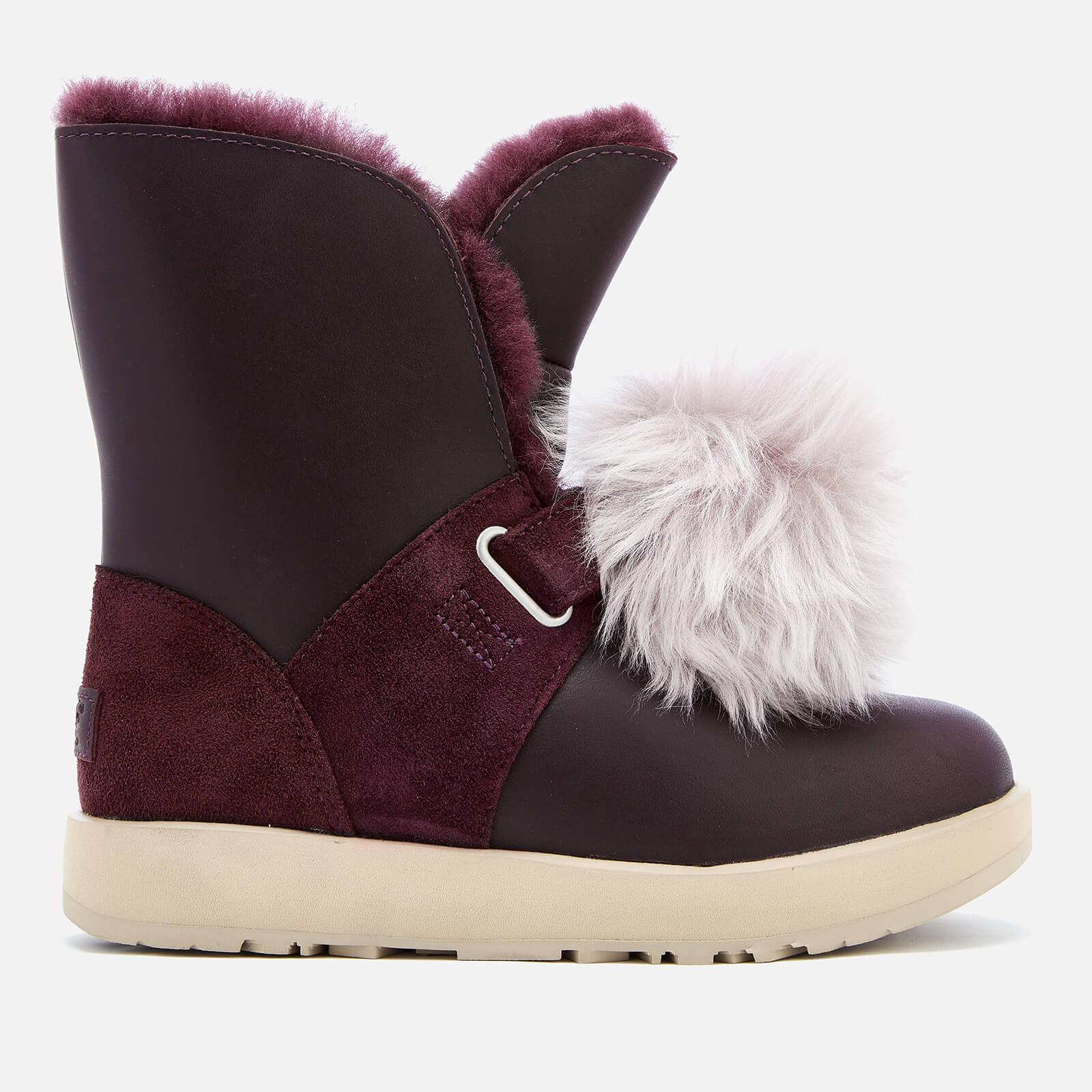 dba48fd23e2 UGG Women's Isley Waterproof Pom Sheepskin Boots - Port