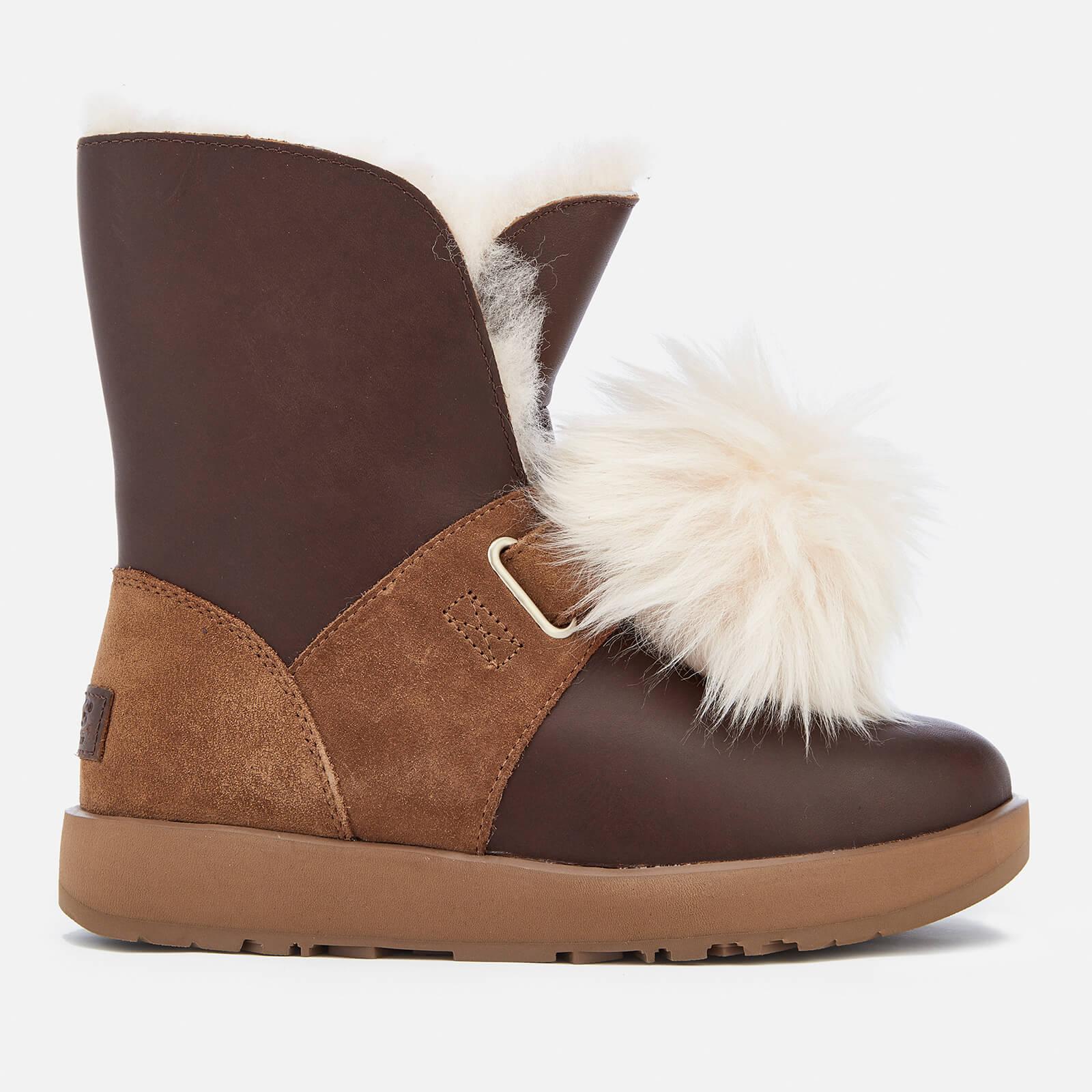 db943259a82 UGG Women's Isley Waterproof Pom Sheepskin Boots - Chestnut