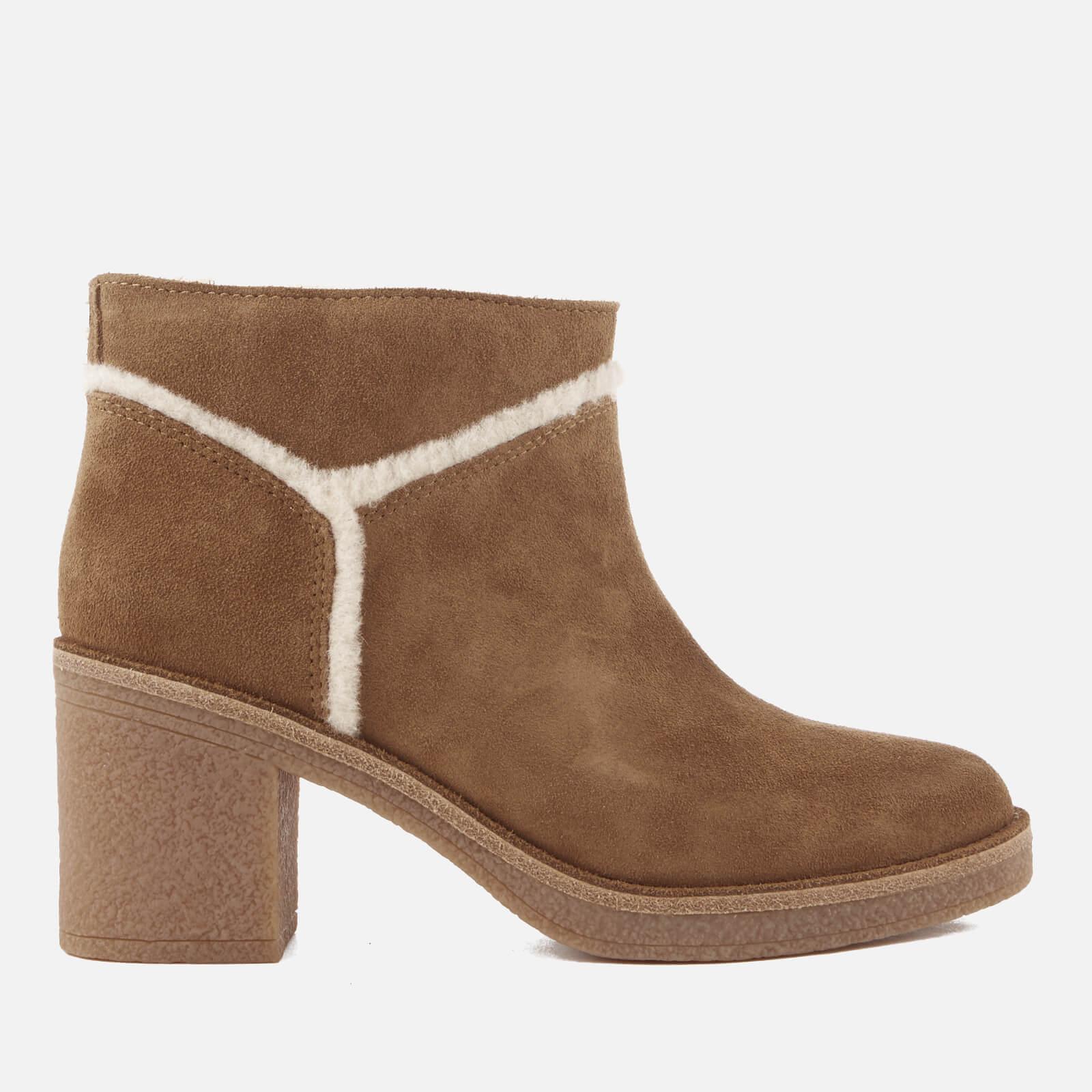 cc497ace0cd UGG Women's Kasen Suede Heeled Ankle Boots - Chestnut