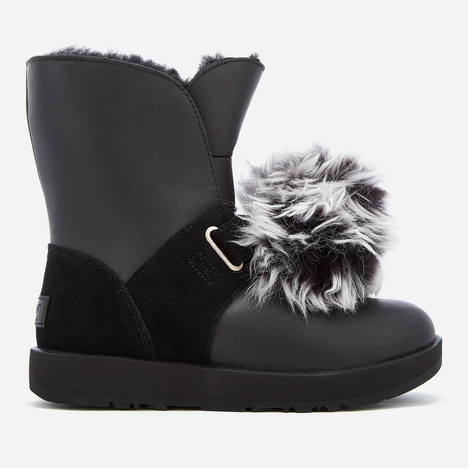 b2bf9a0d91f UGG Women's Isley Waterproof Pom Sheepskin Boots - Black