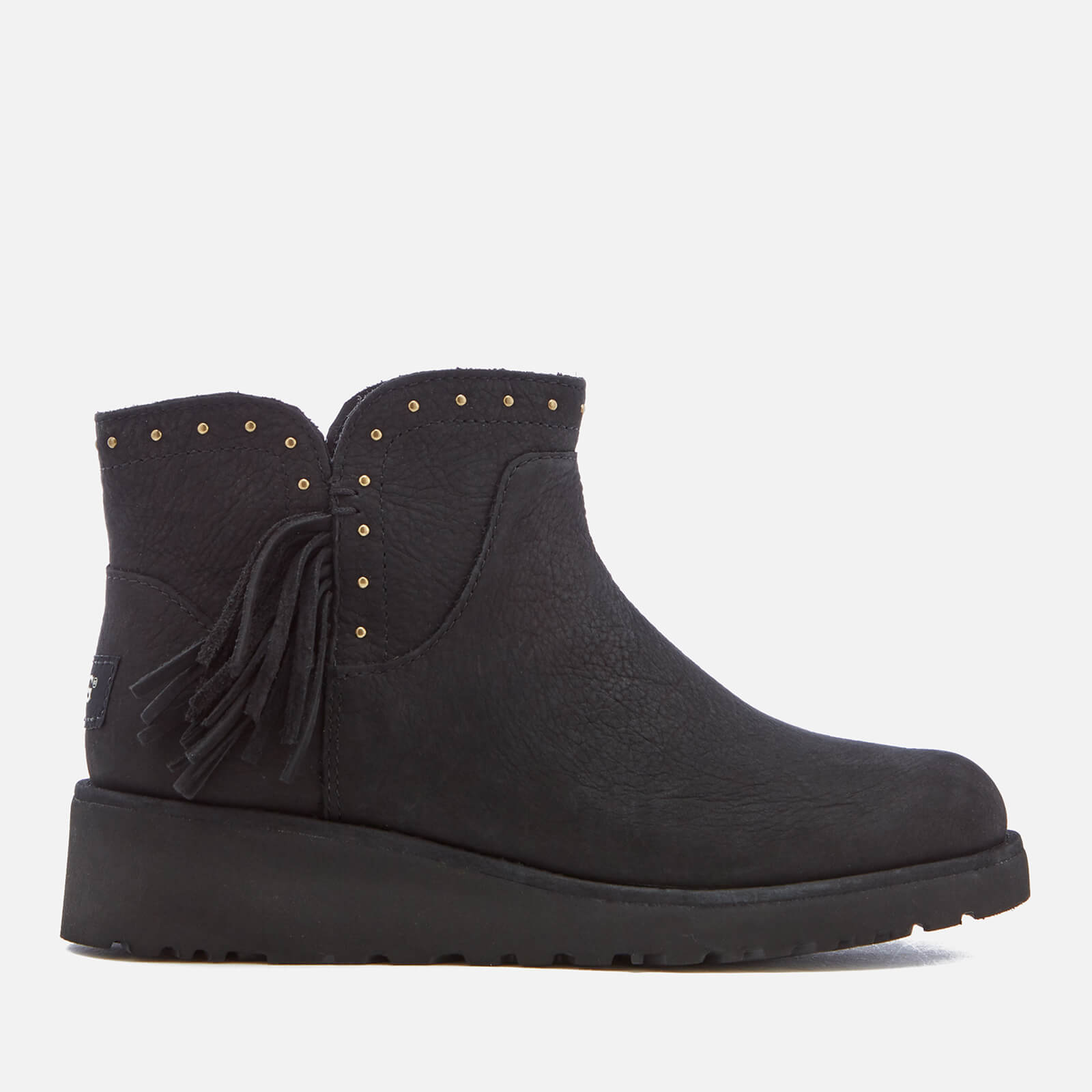 c8540c8e546 UGG Women's Cindy Leather Tassle Ankle Boots - Black