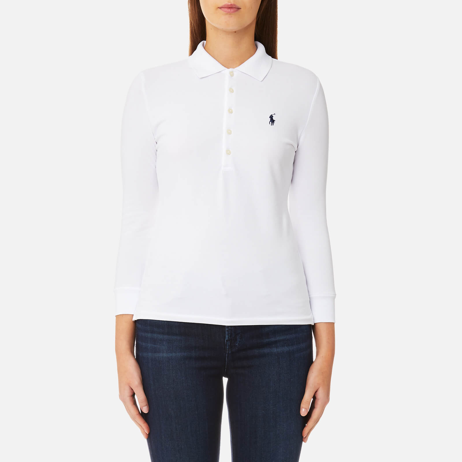 937530c4219b Polo Ralph Lauren Women's 3/4 Length Julie Long Sleeve Top - White - Free  UK Delivery over £50