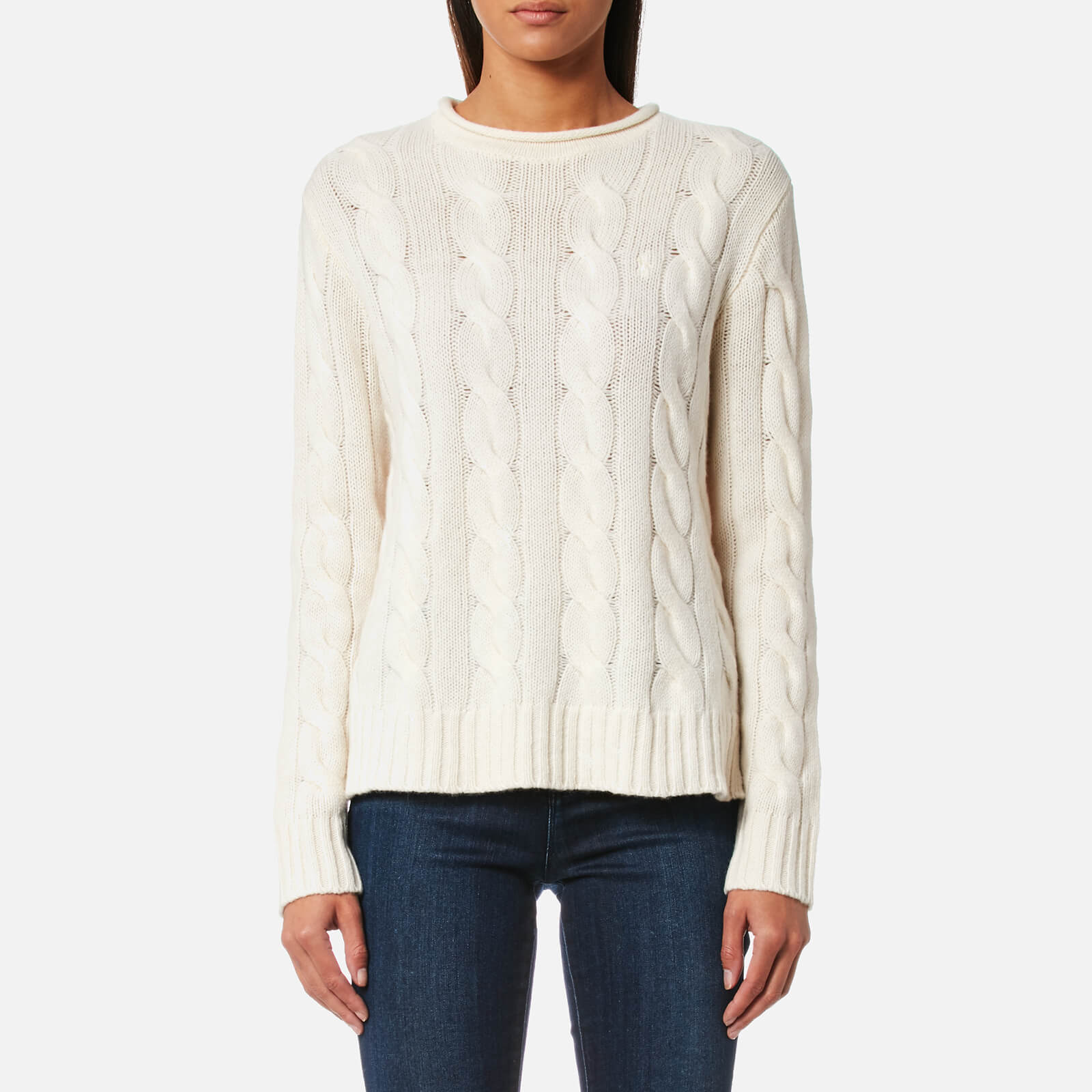 8edd238fc371c4 Polo Ralph Lauren Women s Boxy Roll Neck Jumper - Cream - Free UK Delivery  over £50