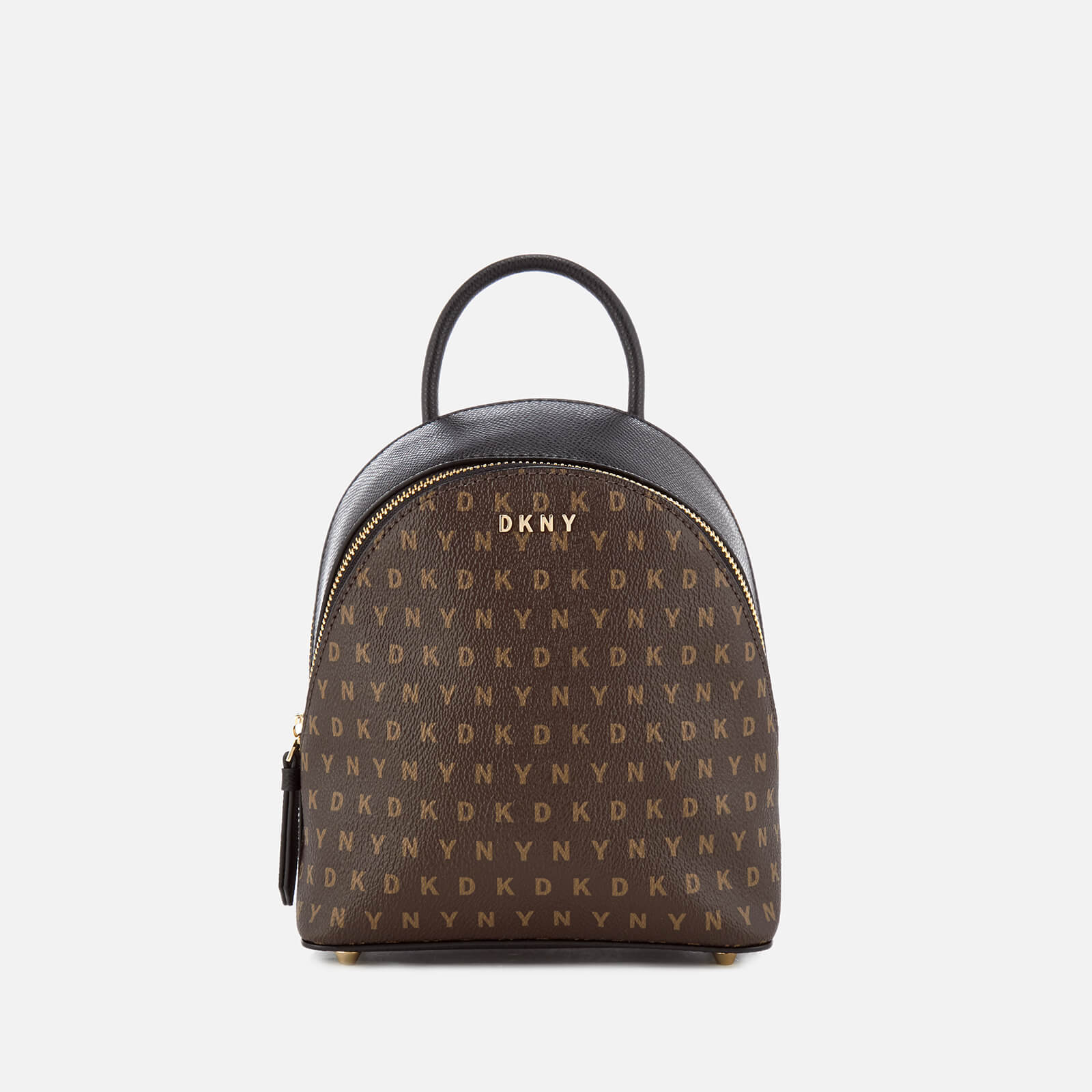 diversified in packaging great deals on fashion to buy DKNY Women's Coated Logo Mini Backpack - Brown Logo