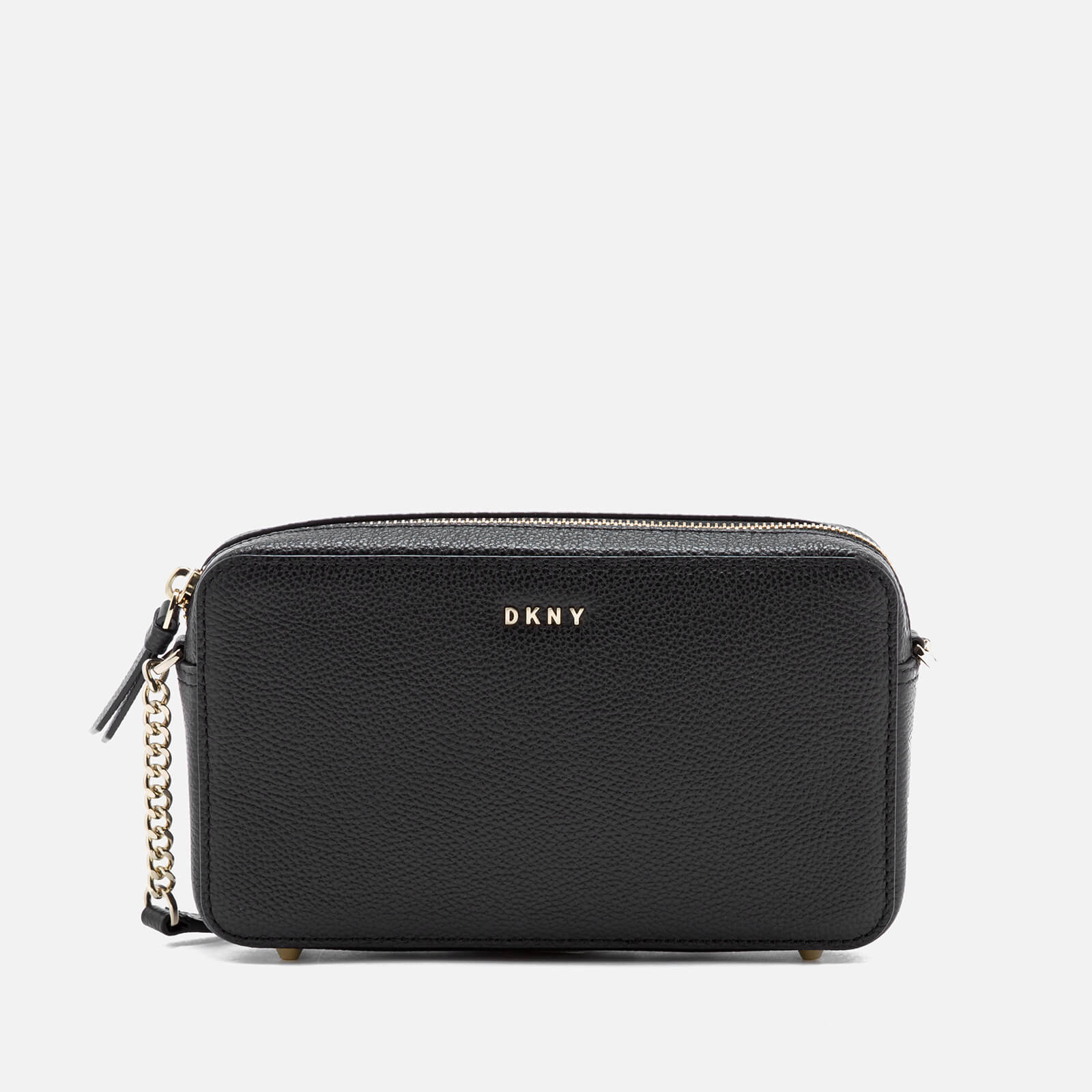 4f330db80145 ... DKNY Women s Chelsea Pebbled Small Leather Top Zip Cross Body Bag -  Black