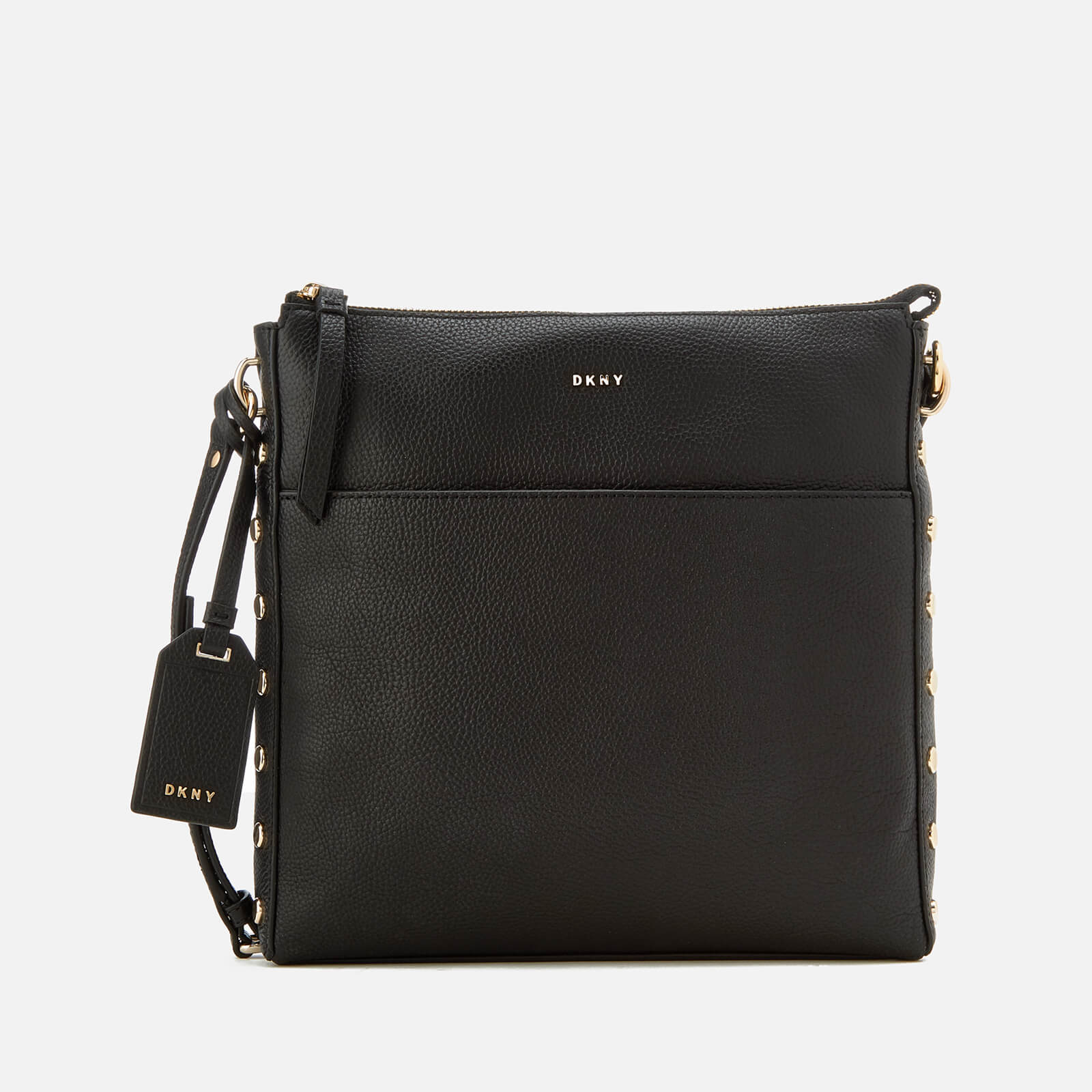 39a71ec32f DKNY Women s Chelsea Pebbled Leather Top Zip Cross Body Bag - Black ...