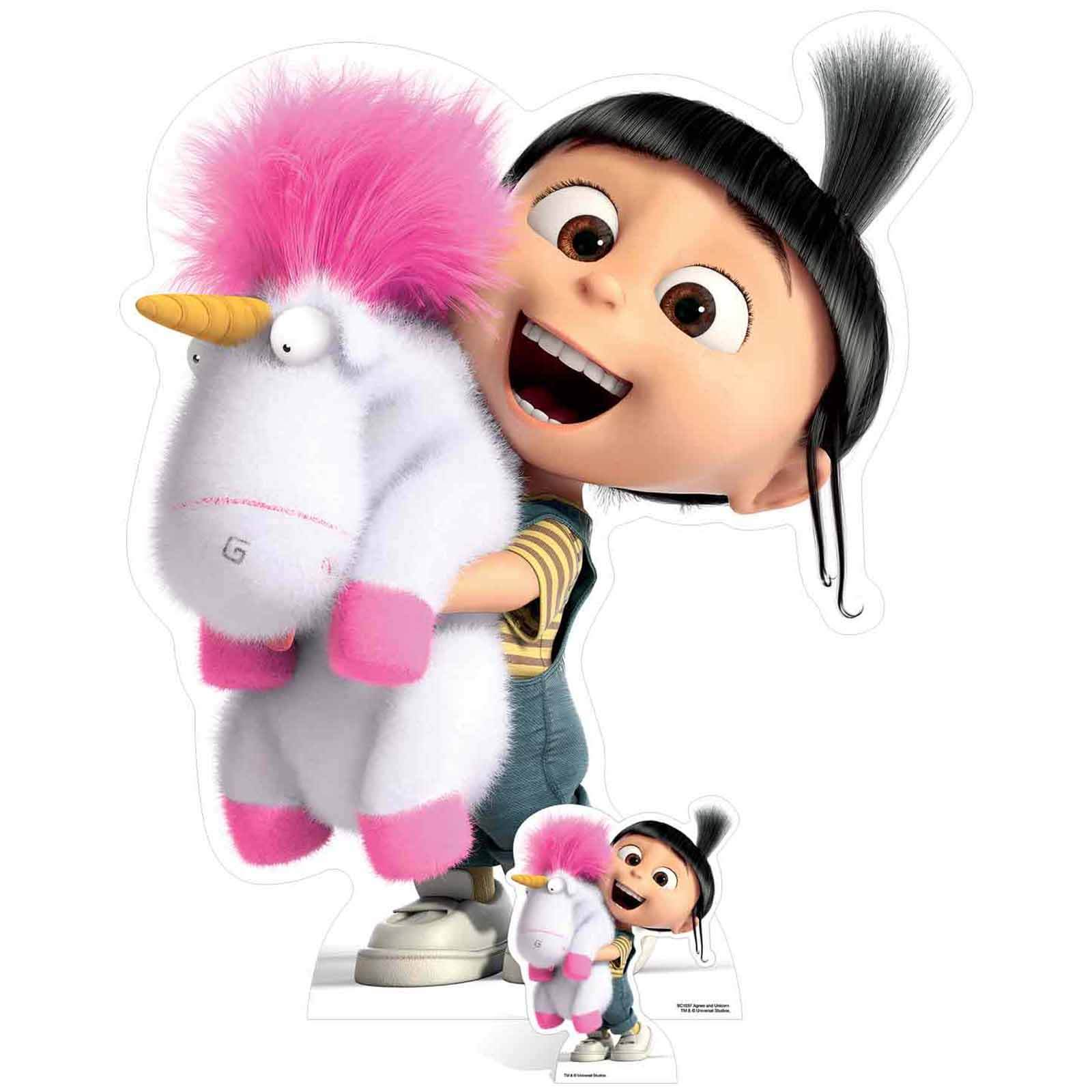 Despicable Me 3: Agnes and Fluffy Unicorn Over-Sized Cut Out