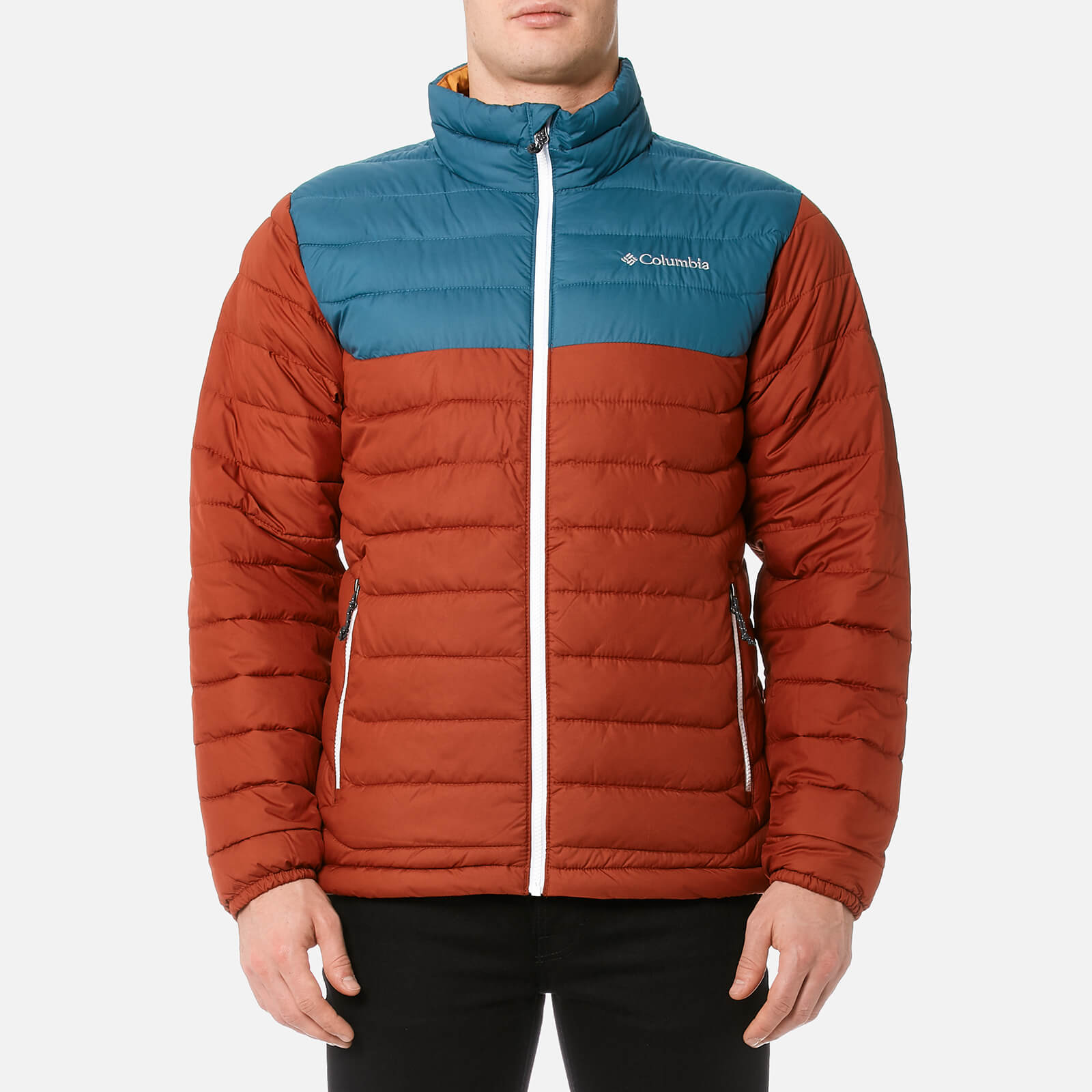 34c4f9100 Columbia Men's Powder Lite Jacket - Rusty/Blue Heron/Canyan Gold