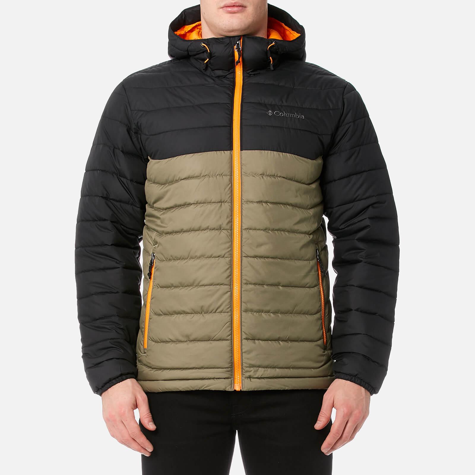 c149db35f Columbia Men's Powder Lite Hooded Jacket - Sage/Black/Solarize
