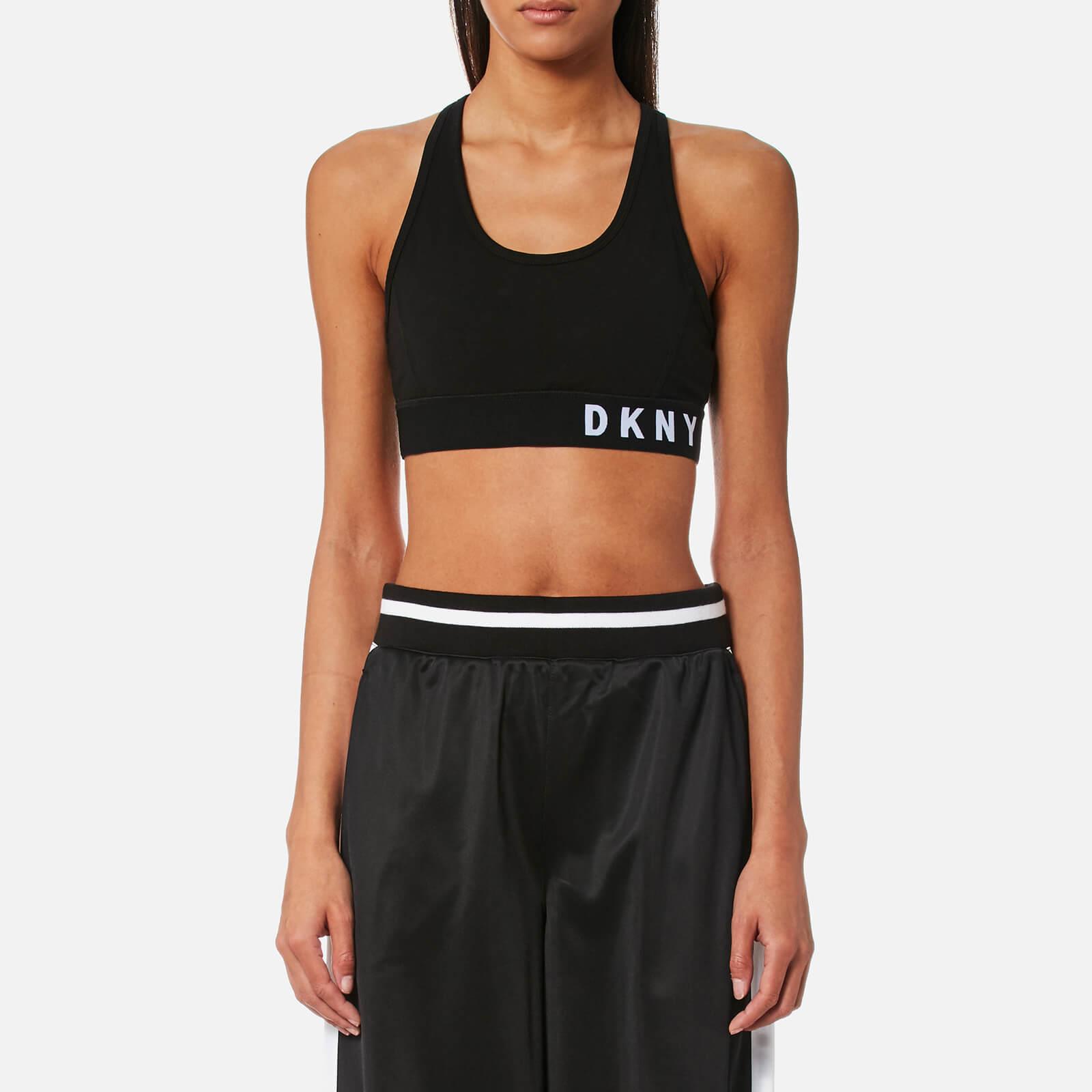 cb07e9014c4 DKNY Sport Women's Low Impact Logo Sports Bra - Black