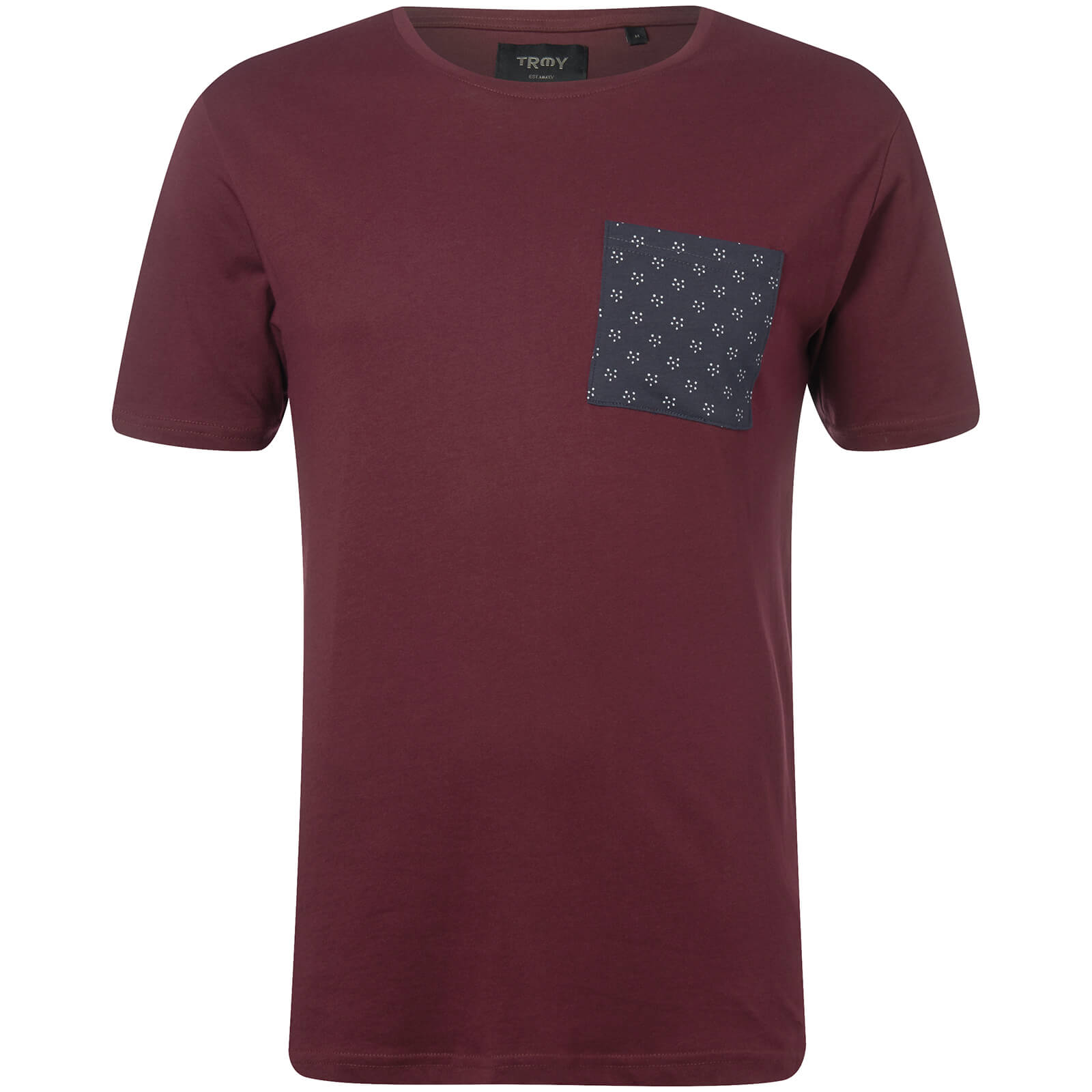T-Shirt Homme Robert Poche Troy - Pourpre