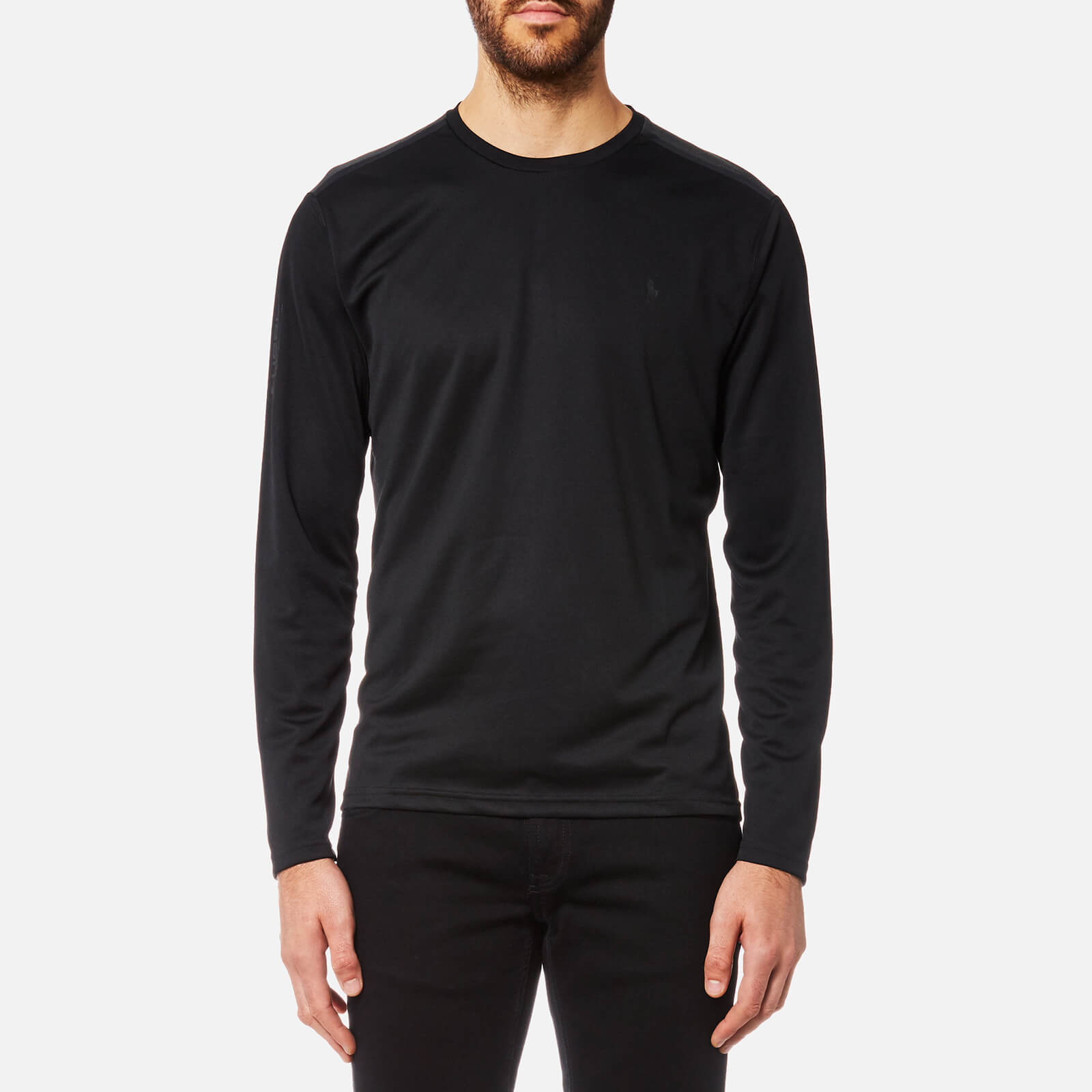 69be822d843f Polo Ralph Lauren Men s Performance Elevated Long Sleeve T-Shirt - Polo  Black - Free UK Delivery over £50
