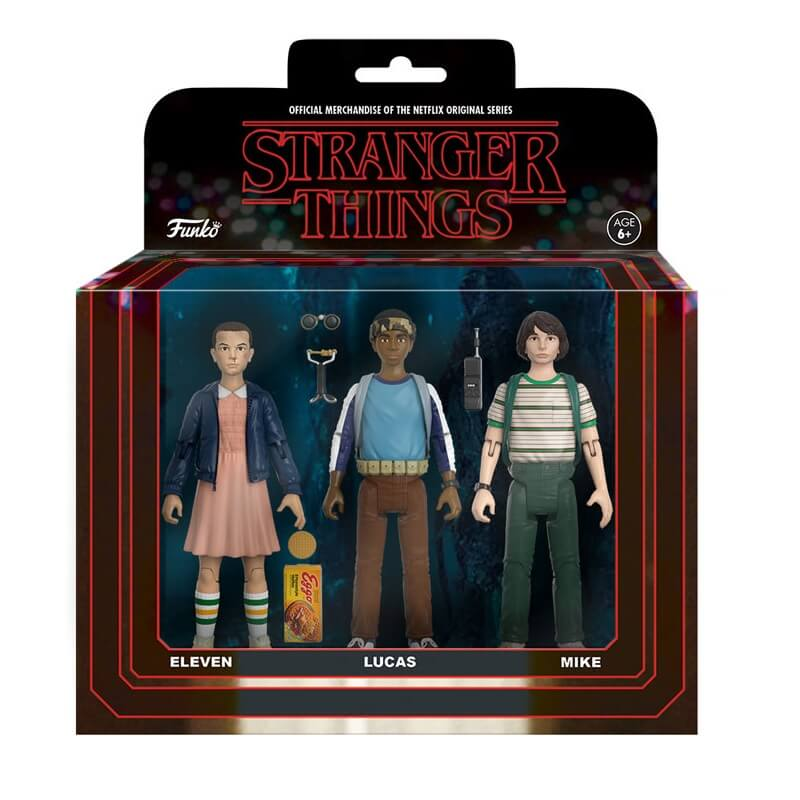 Pack 3 Figuras Funko Eleven, Lucas y Mike - Stranger Things