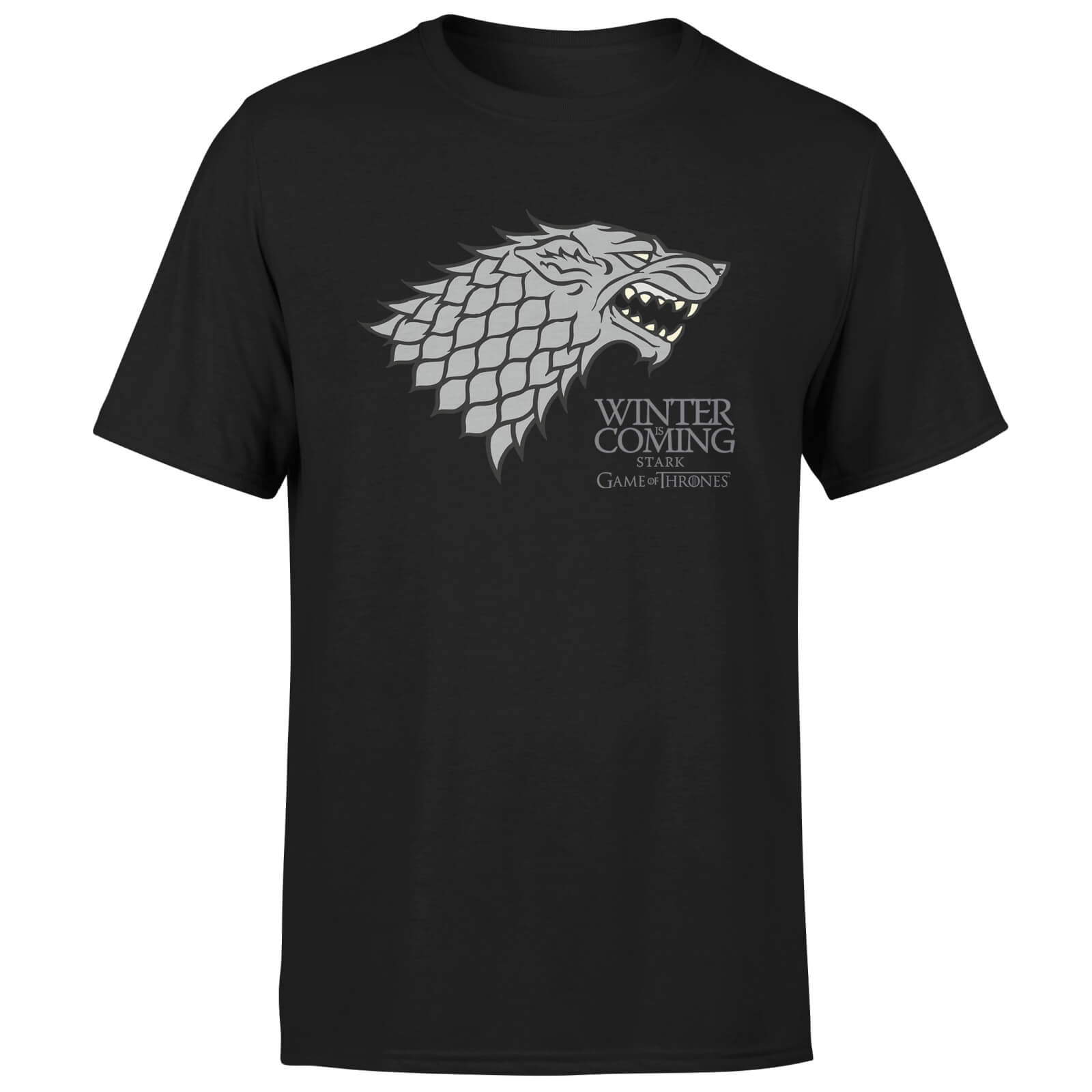 Game Of Thrones Stark Winter Is Coming T Shirt Schwarz Mygeekbox