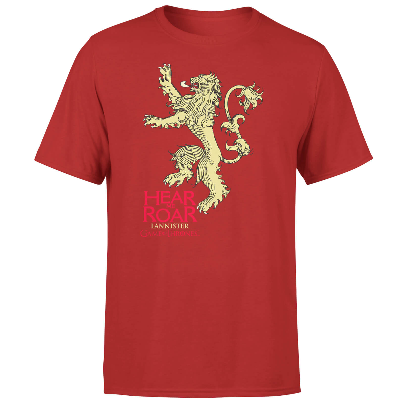 Game of Thrones Lannister Hear Me Roar Men