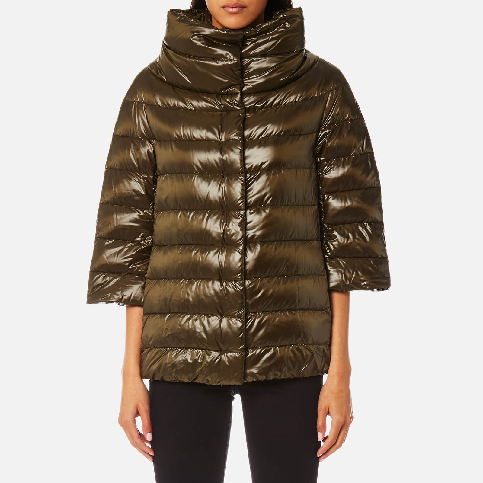 3422cea4a Herno Women's Woven Down Jacket - Verde Oliva
