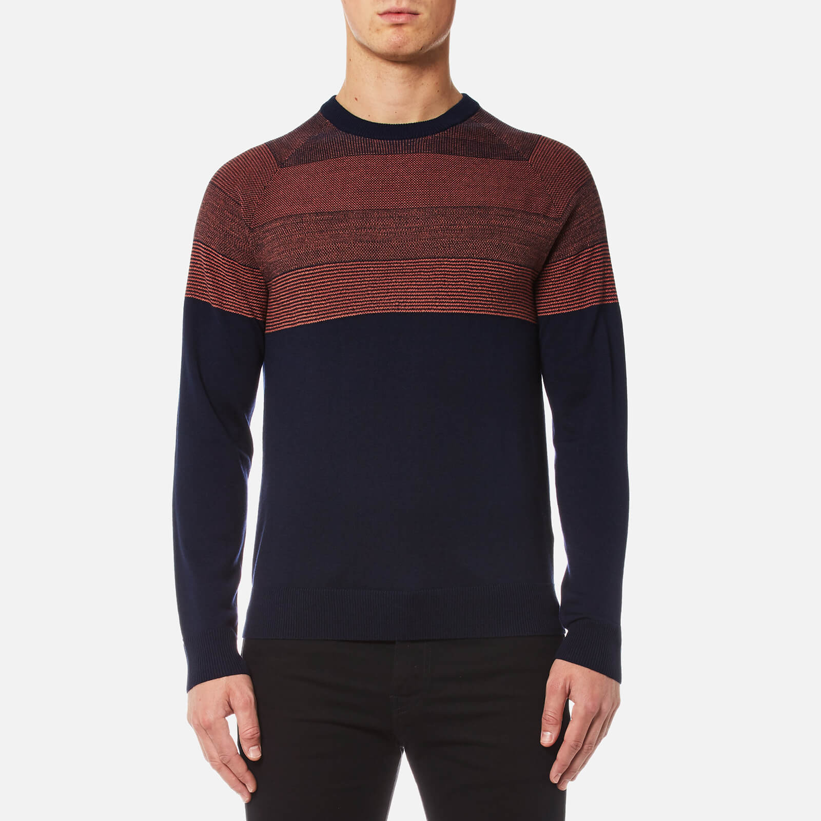 e63875e89ccc3c PS Paul Smith Men's Contrast Shoulder Knitted Jumper - Navy - Free UK  Delivery over £50