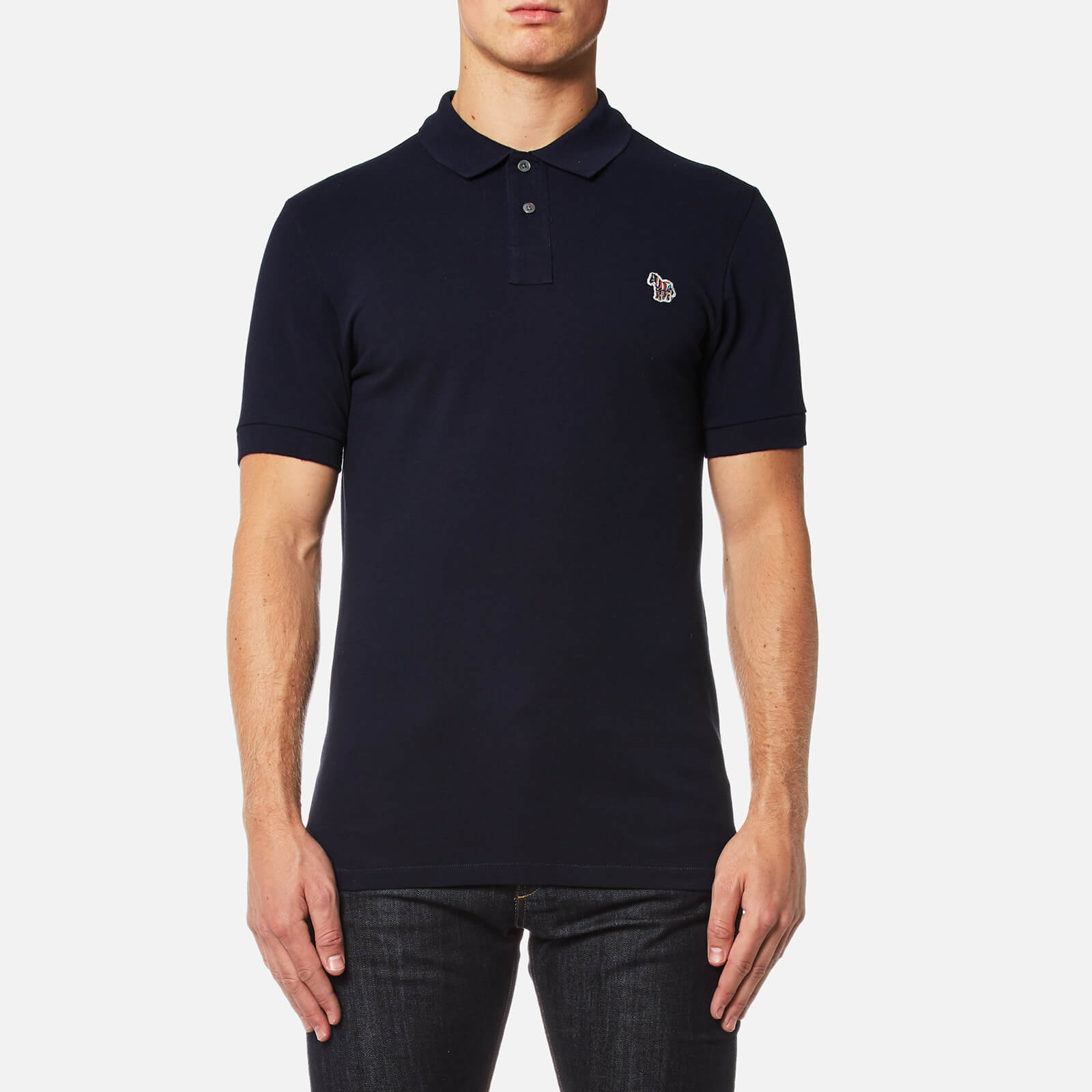 10058163ff2d8c PS Paul Smith Men's Zebra Logo Polo Shirt - Navy - Free UK Delivery over £50