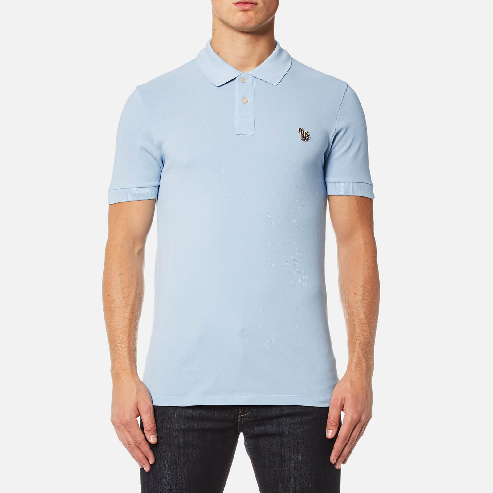 927e4d51a PS by Paul Smith Men s Zebra Logo Polo Shirt - Sky - Free UK Delivery over  £50