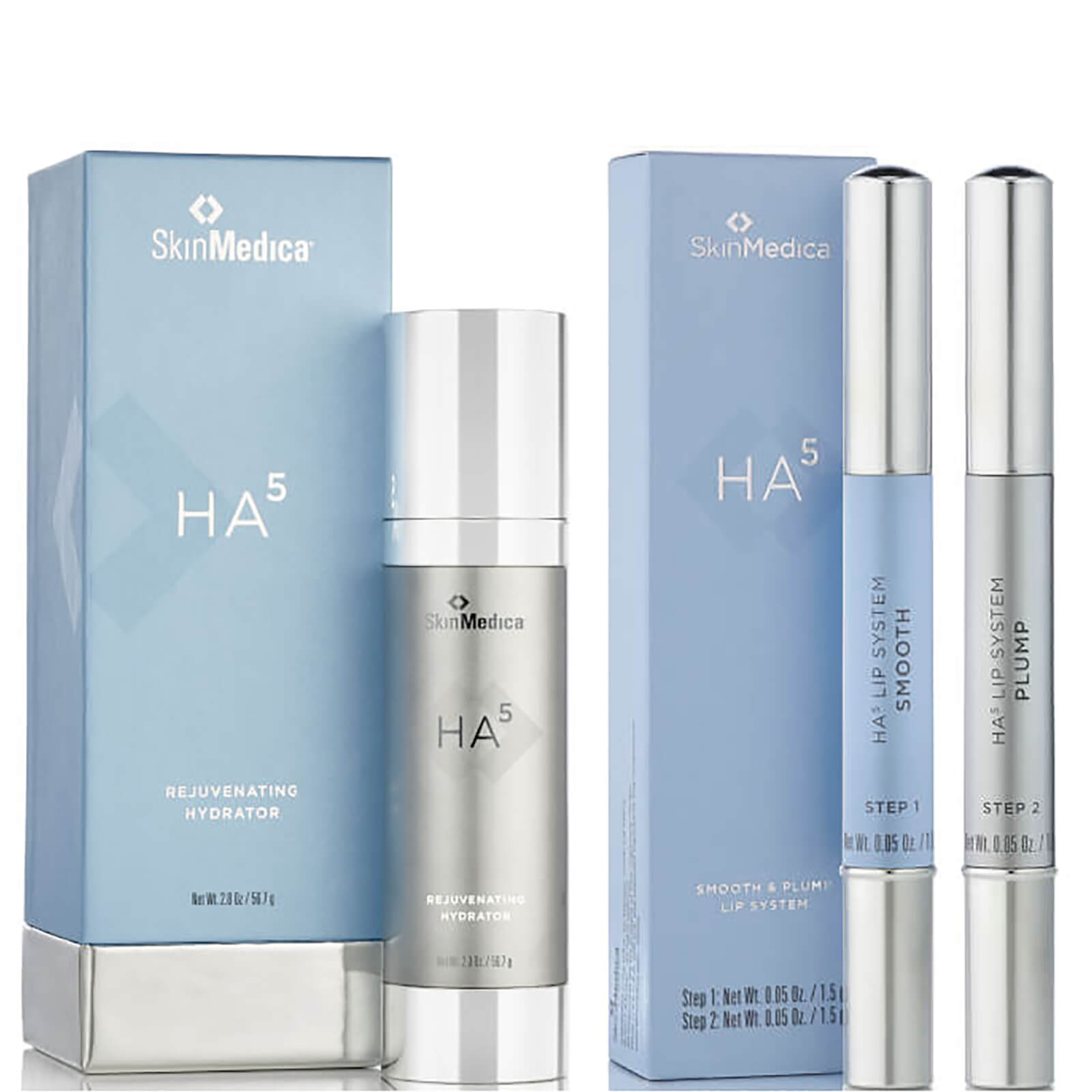 SkinMedica HA5 Rejuvenating Hydrator and HA5 Smooth and Plump Lip System (Worth $246)
