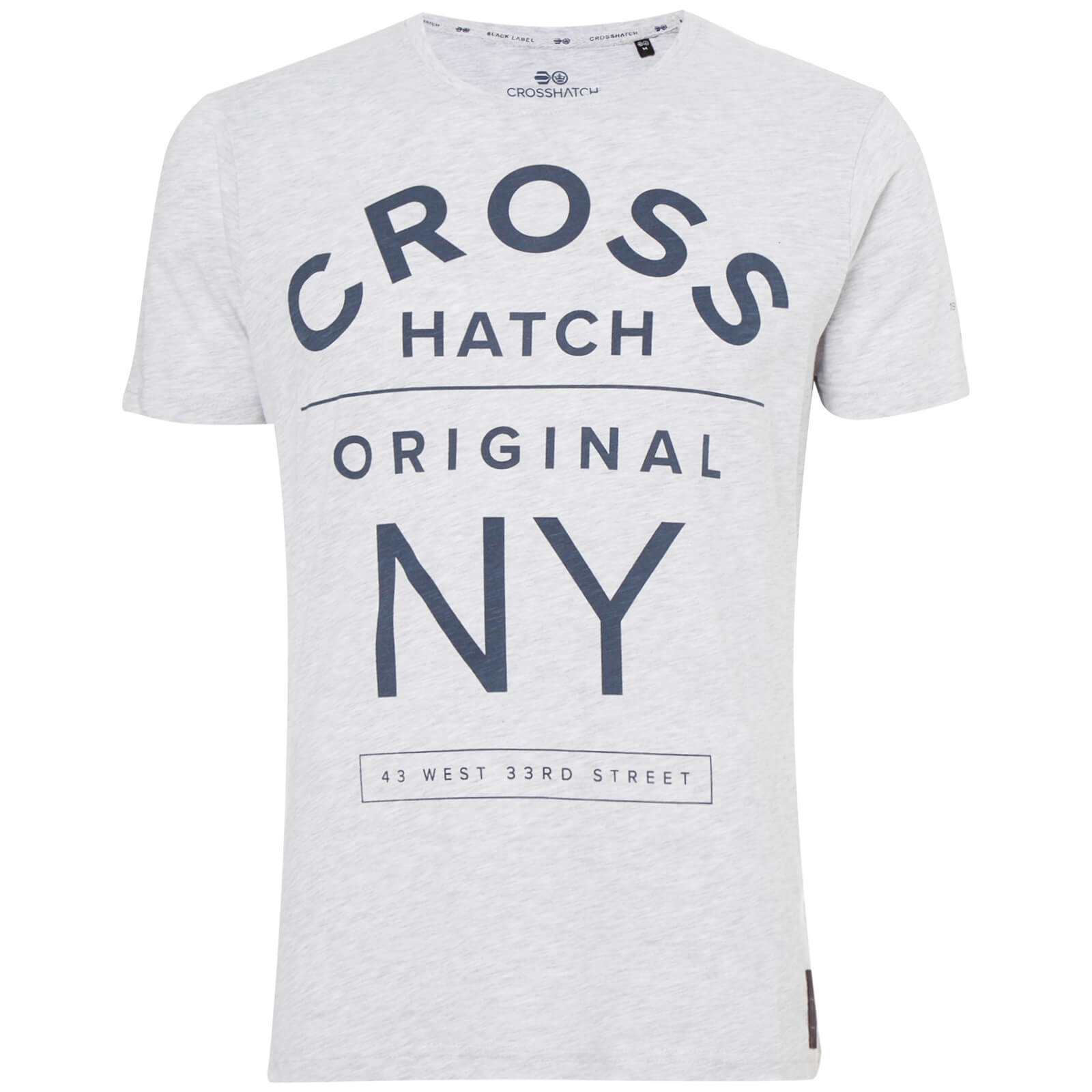 T-Shirt Homme Laramie Crosshatch - Gris Chiné
