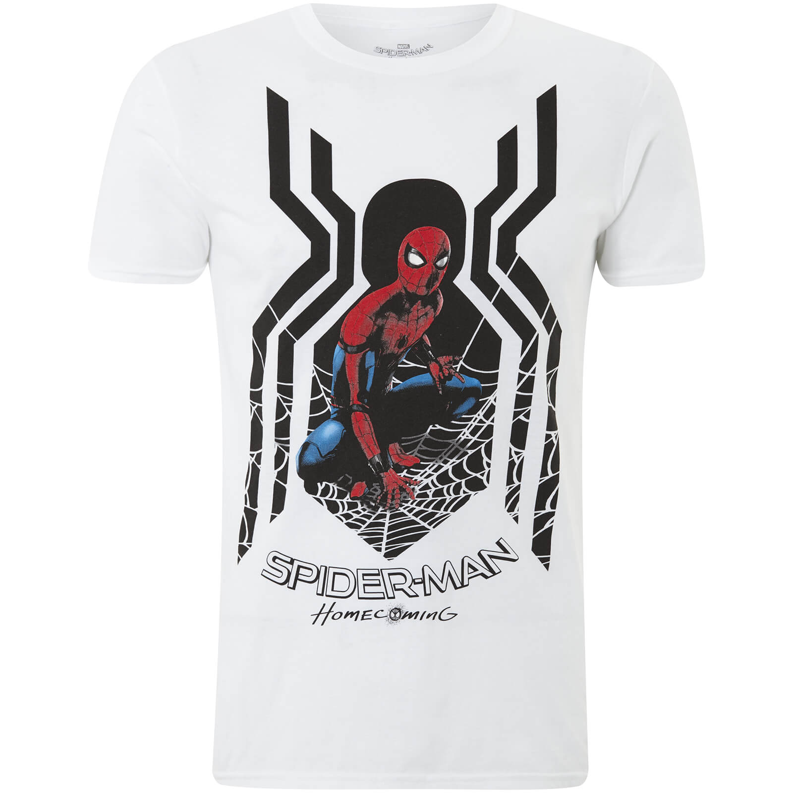 16b646e0 Marvel Spider-Man Men's Homecoming Spider Symbol T-Shirt - White  Merchandise | Zavvi
