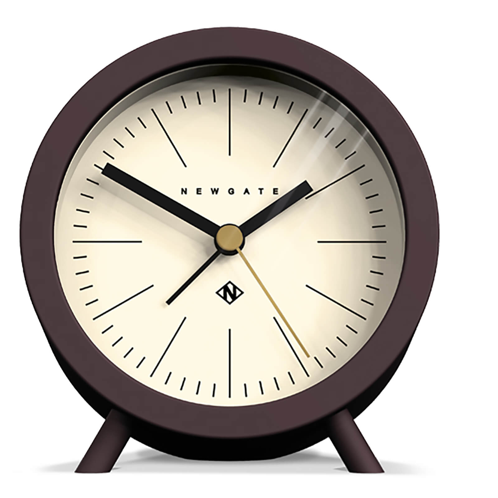 Newgate Fred Barrel Alarm Clock - Chocolate Black