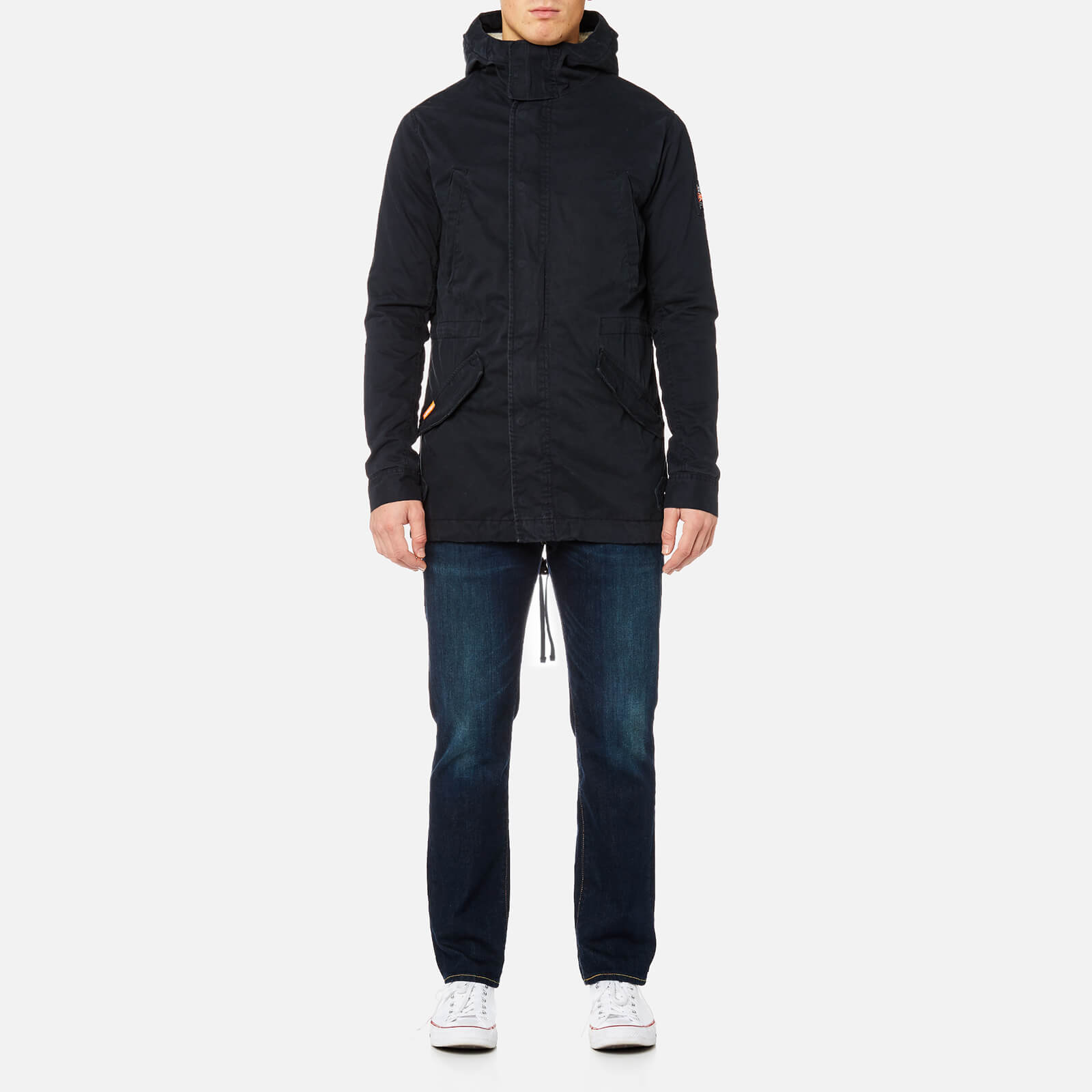 1e83a51569976 Superdry Men's Winter Rookie Military Parka - Dark Navy Clothing |  TheHut.com