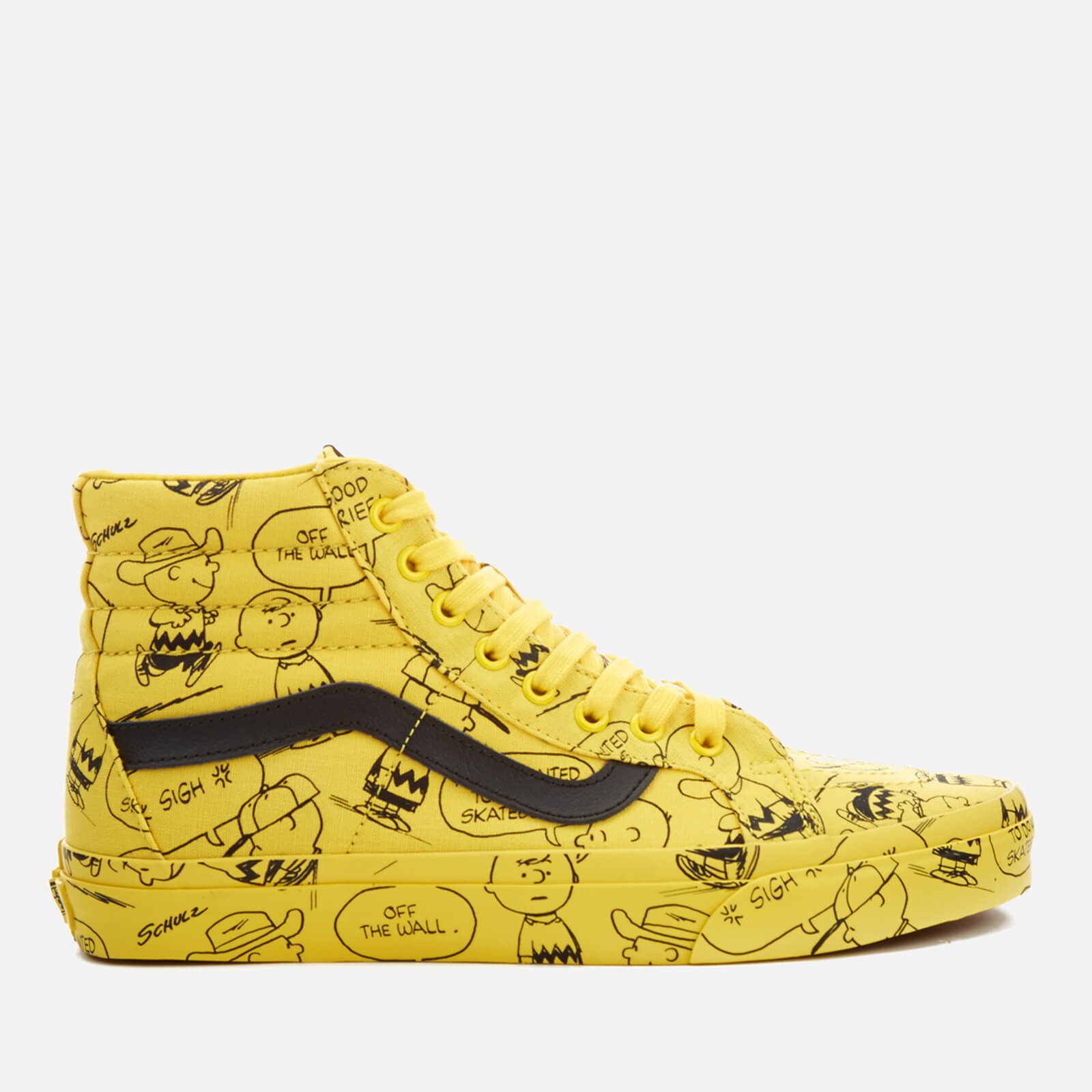 cbb7ae2b5dfd Vans X Peanuts Men s SK8-Hi Reissue Trainers - Charlie Brown Maize - Free  UK Delivery over £50