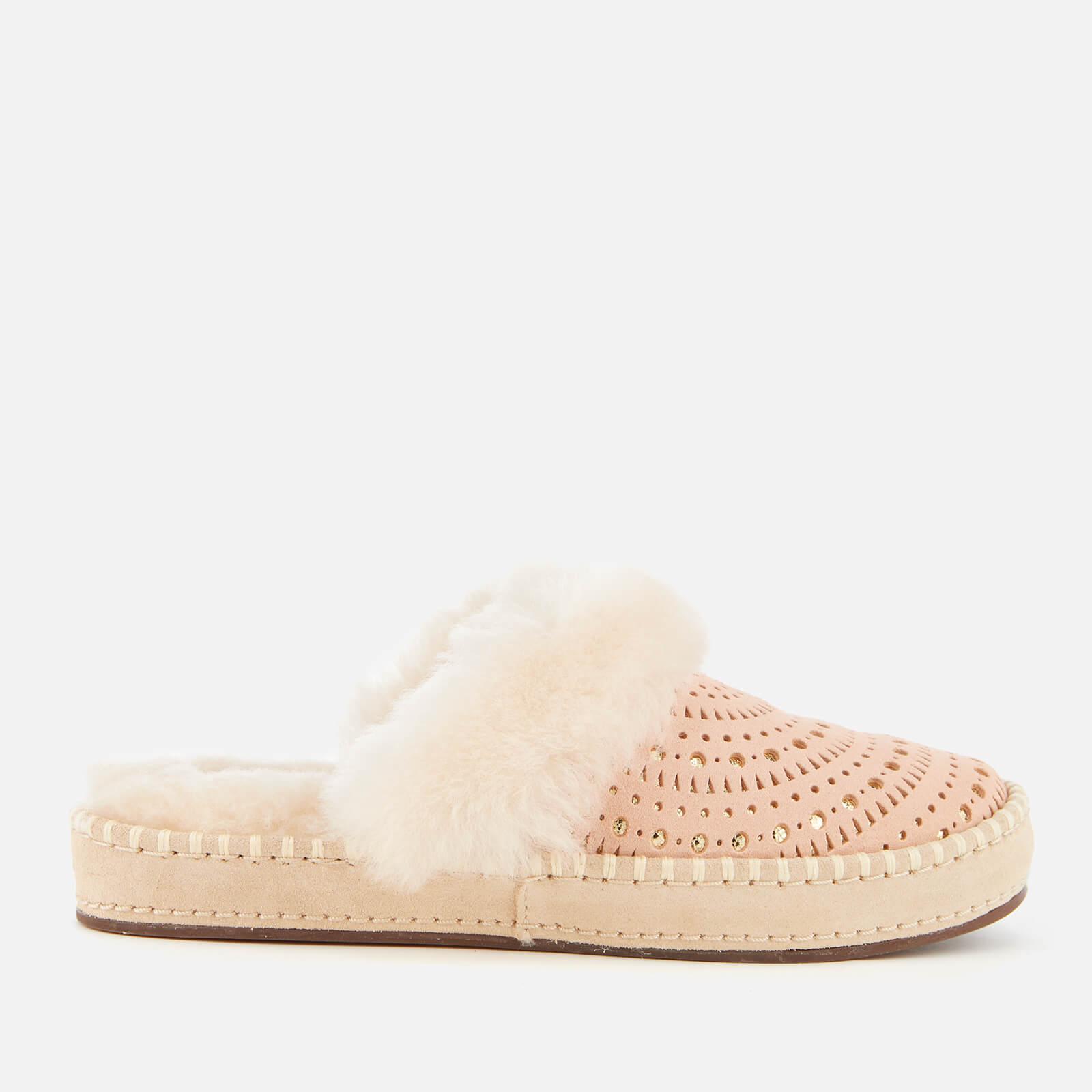 7008210a6a23 UGG Women s Aira Sunshine Perf Slippers - Tropical Peach Womens Footwear