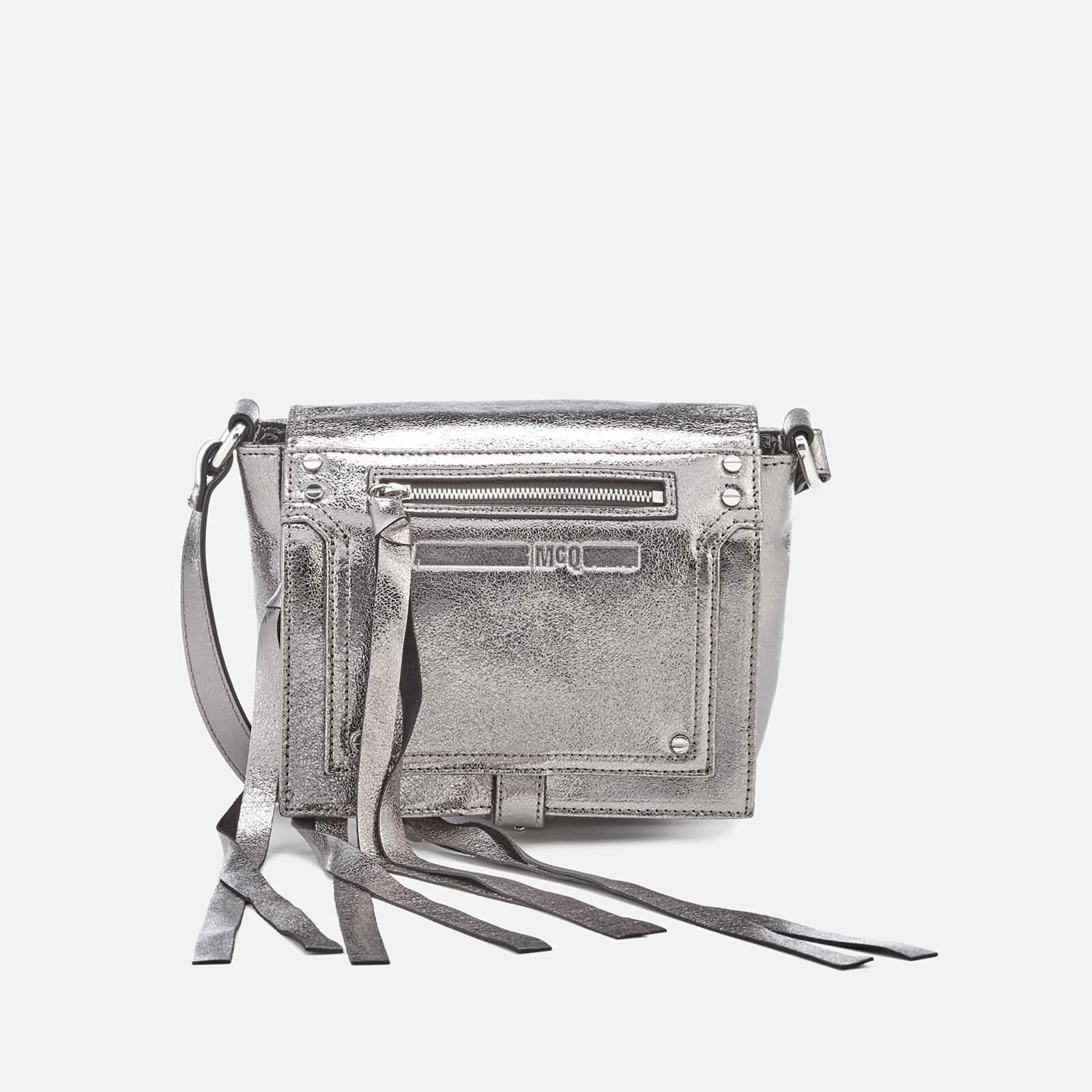 3821589945728 McQ Alexander McQueen Women s Loveless Mini Cross Body Bag - Steel ...