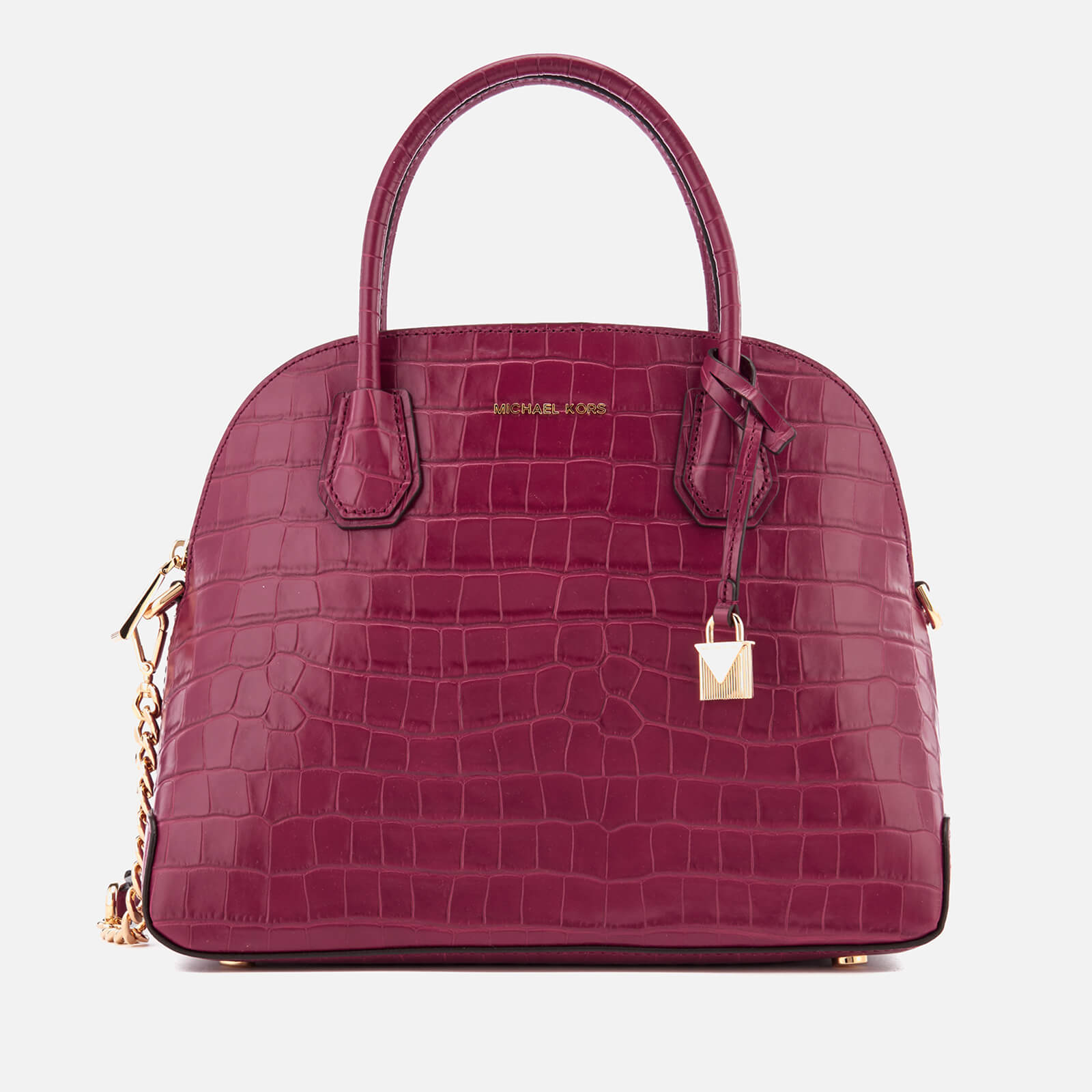c389e3272797c7 MICHAEL MICHAEL KORS Women's Mercer Large Dome Satchel - Mulberry - Free UK  Delivery over £50