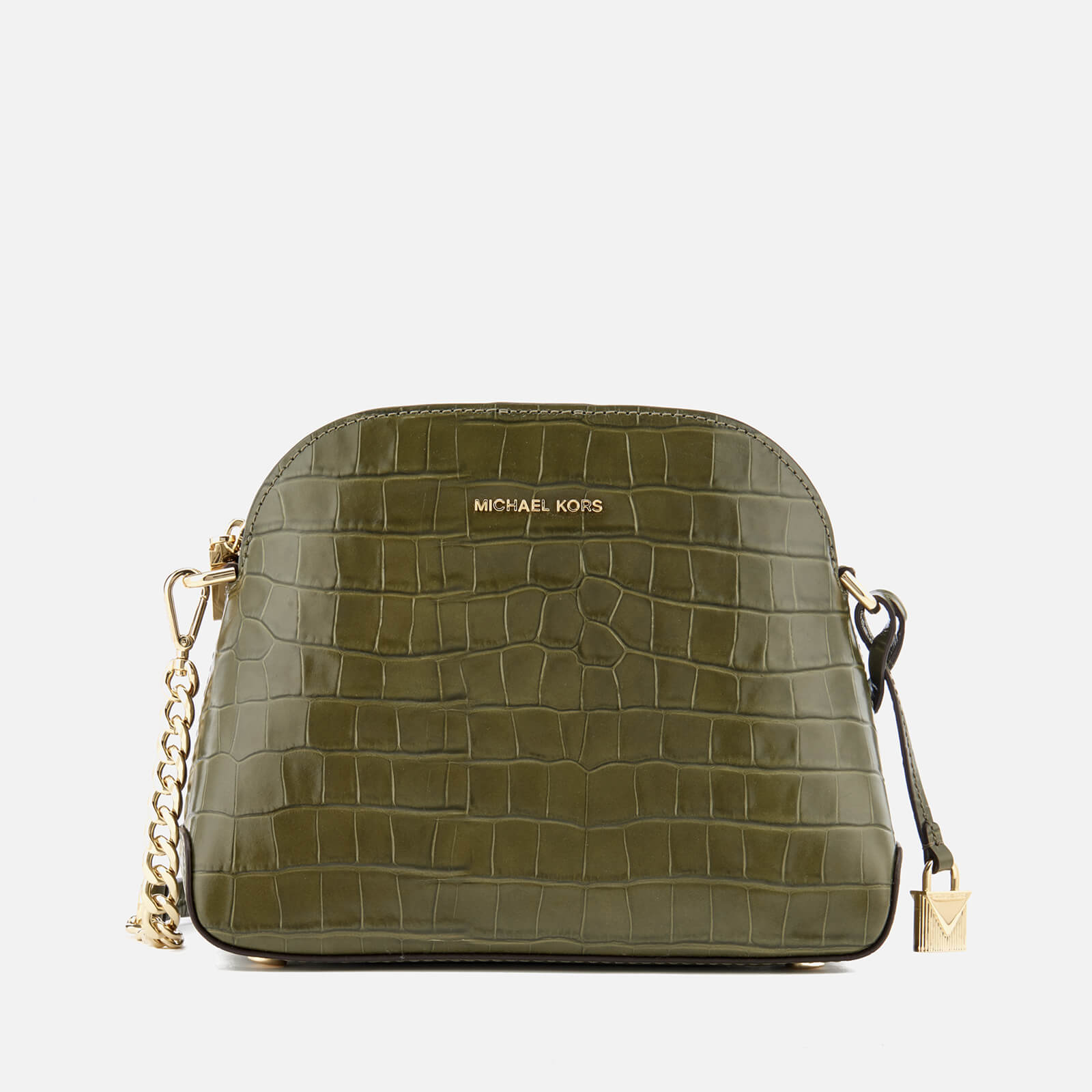 6b19bf5f4d2151 MICHAEL MICHAEL KORS Women's Mercer Medium Dome Cross Body Satchel - Olive  - Free UK Delivery over £50