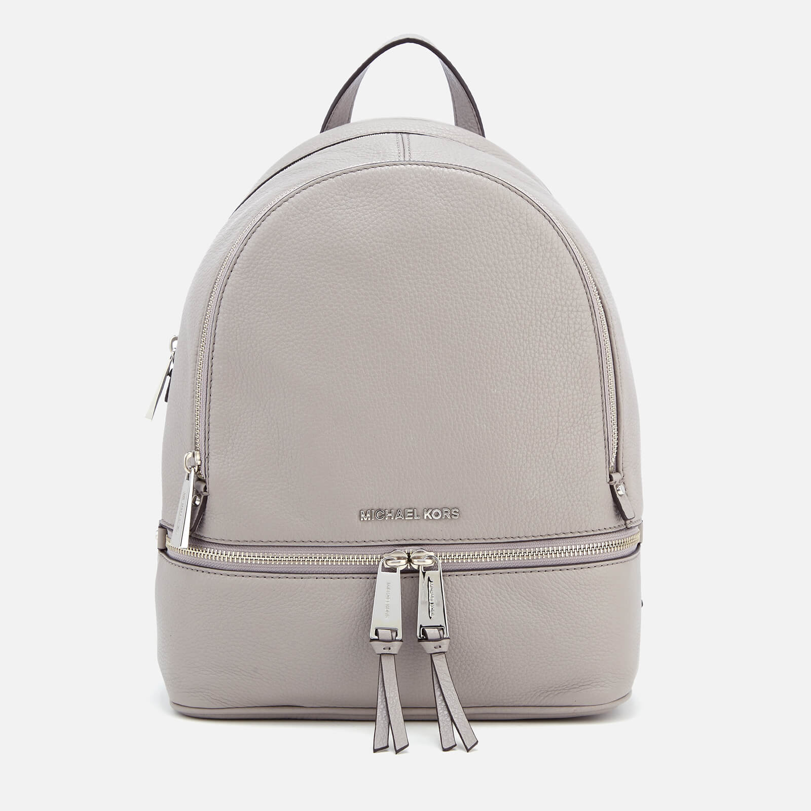 f48fd1c782e7d0 MICHAEL MICHAEL KORS Women's Rhea Zip Medium Backpack - Pearl Grey - Free  UK Delivery over £50