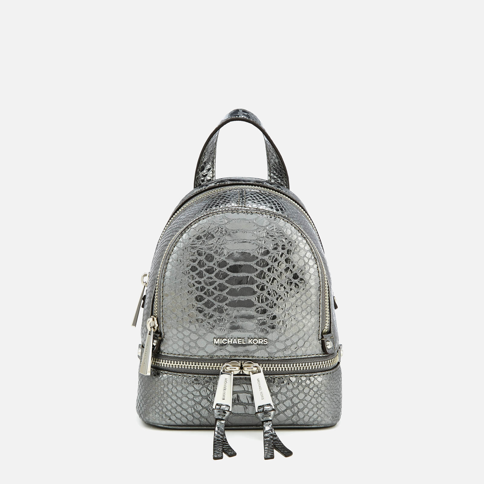 c4c81fcd32b7 MICHAEL MICHAEL KORS Women's Rhea Zip Extra Small Messenger Backpack -  Pewter - Free UK Delivery over £50