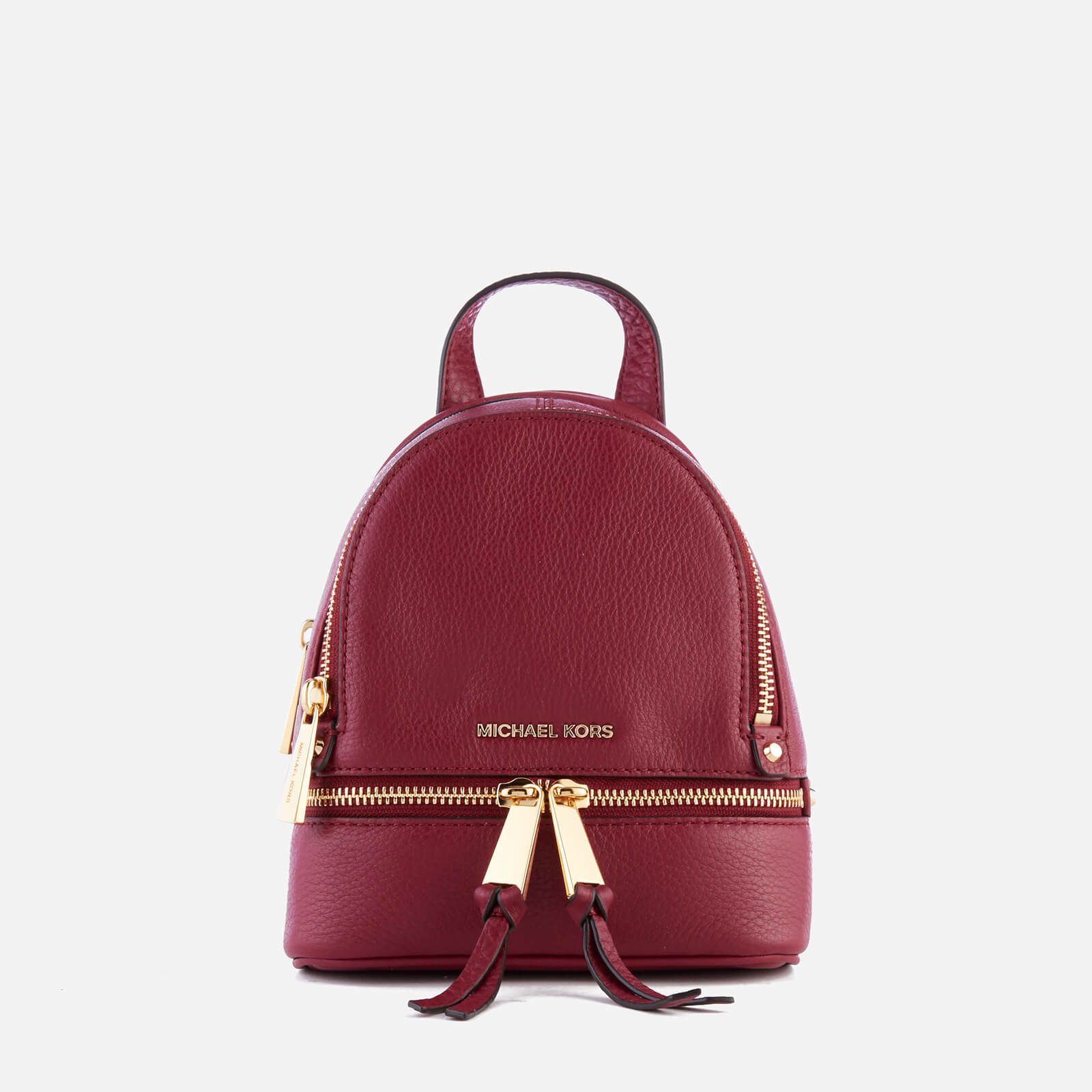 19f53a7cb32a MICHAEL MICHAEL KORS Women s Rhea Zip Extra Small Messenger Backpack - Mulberry  Womens Accessories
