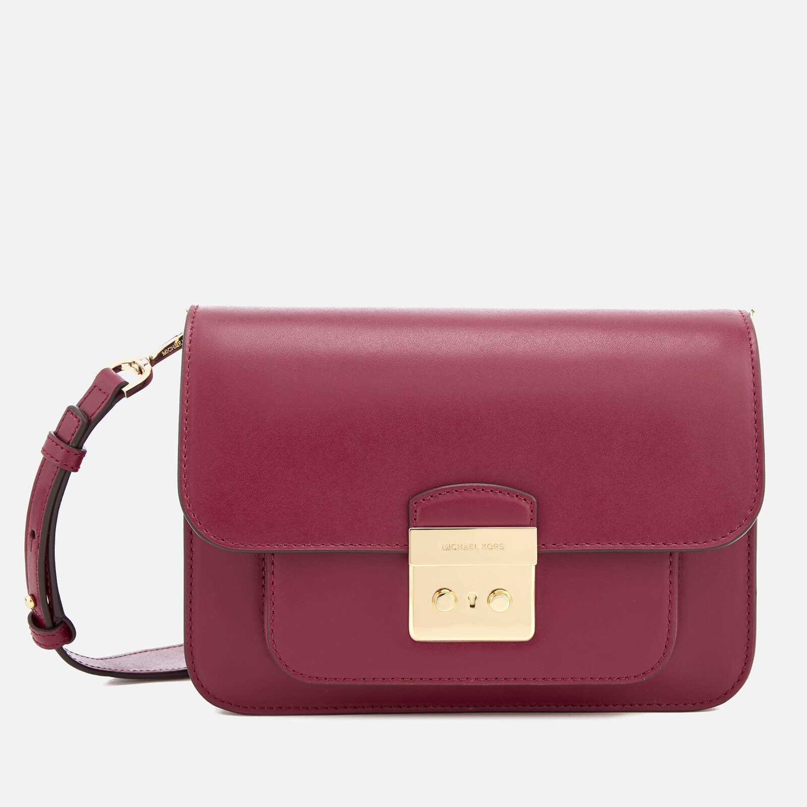 88a259e44c MICHAEL MICHAEL KORS Women s Sloan Editor Large Shoulder Bag - Mulberry -  Free UK Delivery over £50