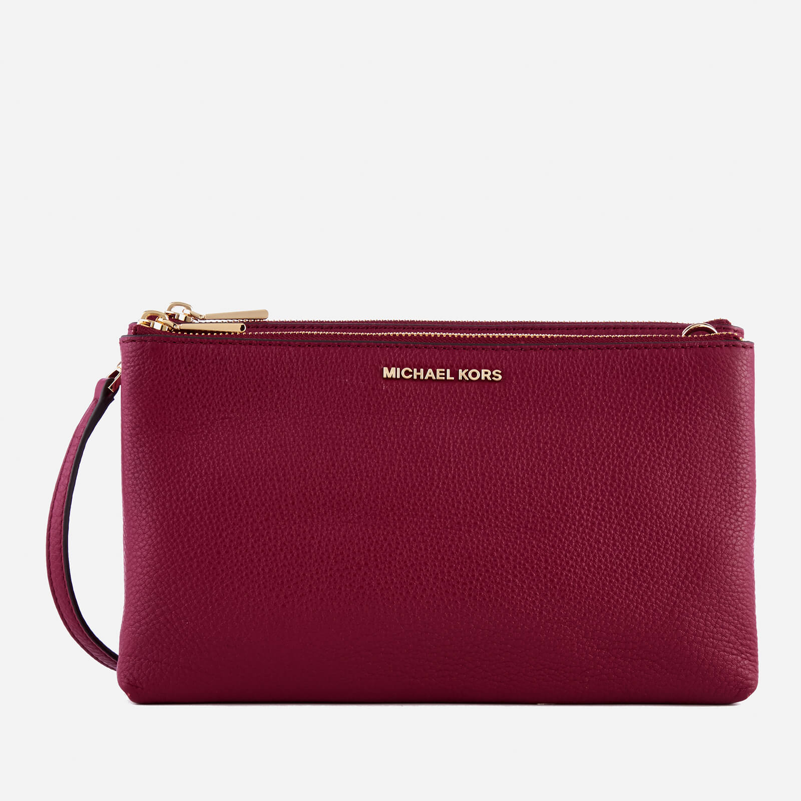 9a5d647a7daf MICHAEL MICHAEL KORS Women's Double Zip Cross Body Bag - Mulberry - Free UK  Delivery over £50