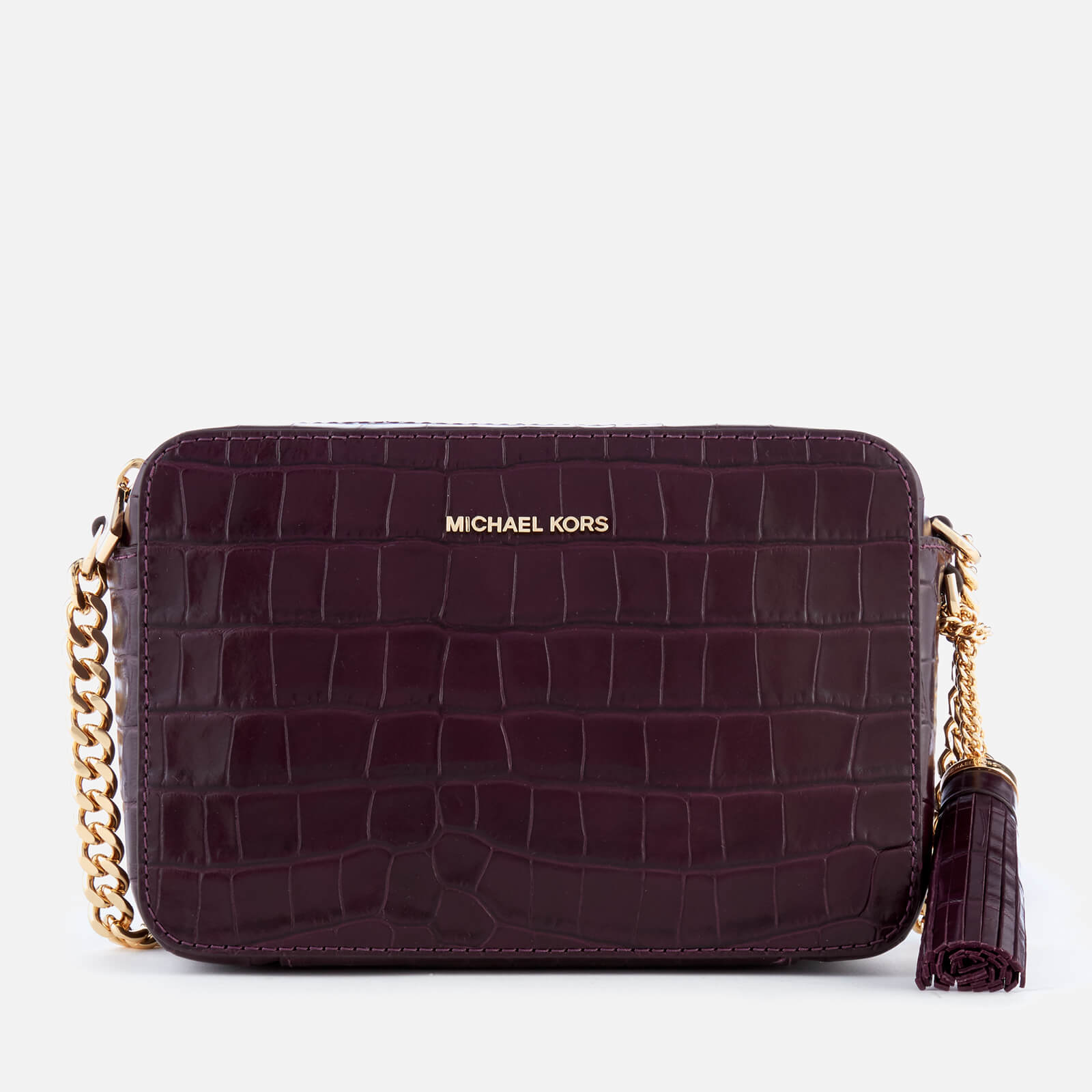 7fe928013758 MICHAEL MICHAEL KORS Women s Ginny Medium Camera Bag - Damson - Free UK  Delivery over £50