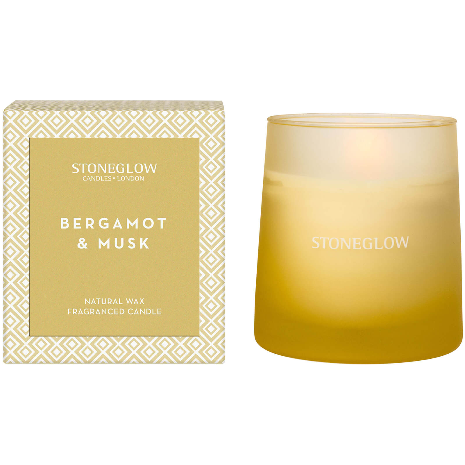 Stoneglow Geometric Collection Bergamot and Musk True Decadence Tumbler