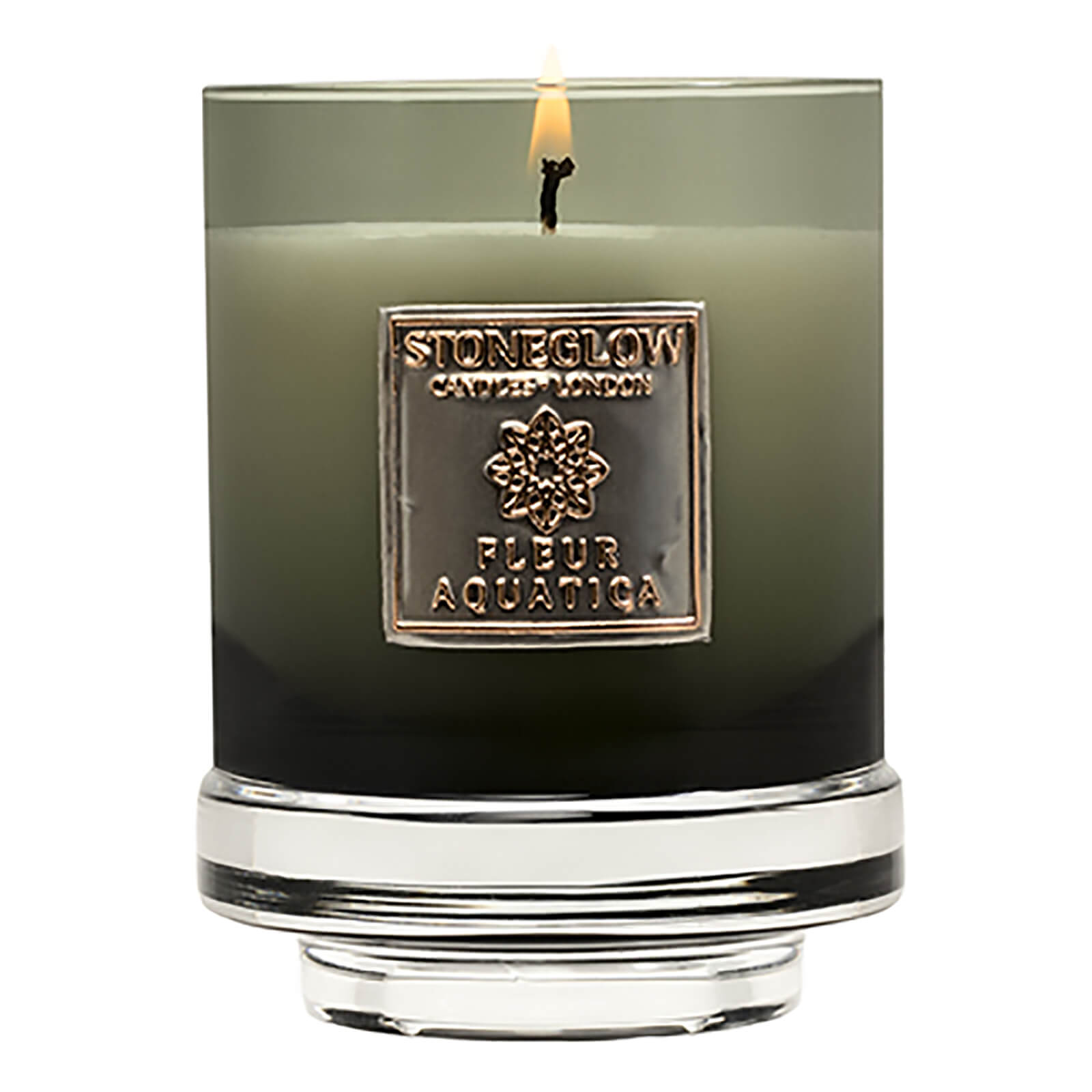 Stoneglow Metallique Collection Fleur Aquatica Candle