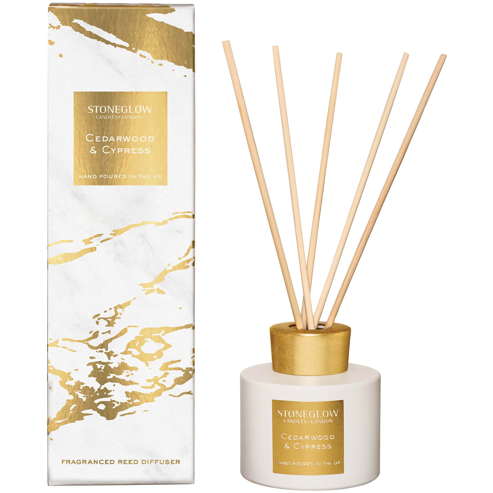 Stoneglow Luna Collection Cedarwood and Cypress Reed Diffuser