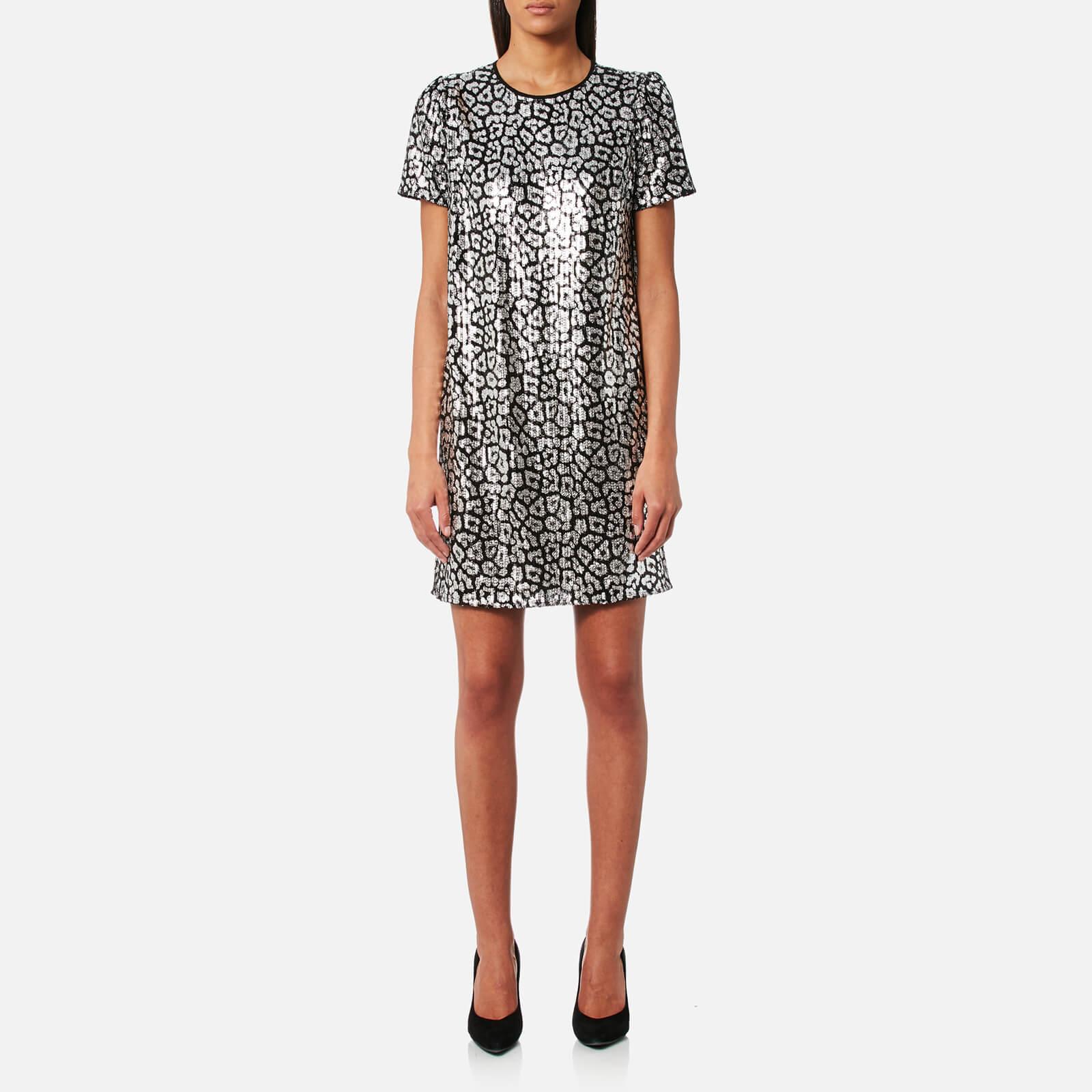 aa3e884e5b4 MICHAEL MICHAEL KORS Women s Sequin Tulle Dress - Black Silver - Free UK  Delivery over £50