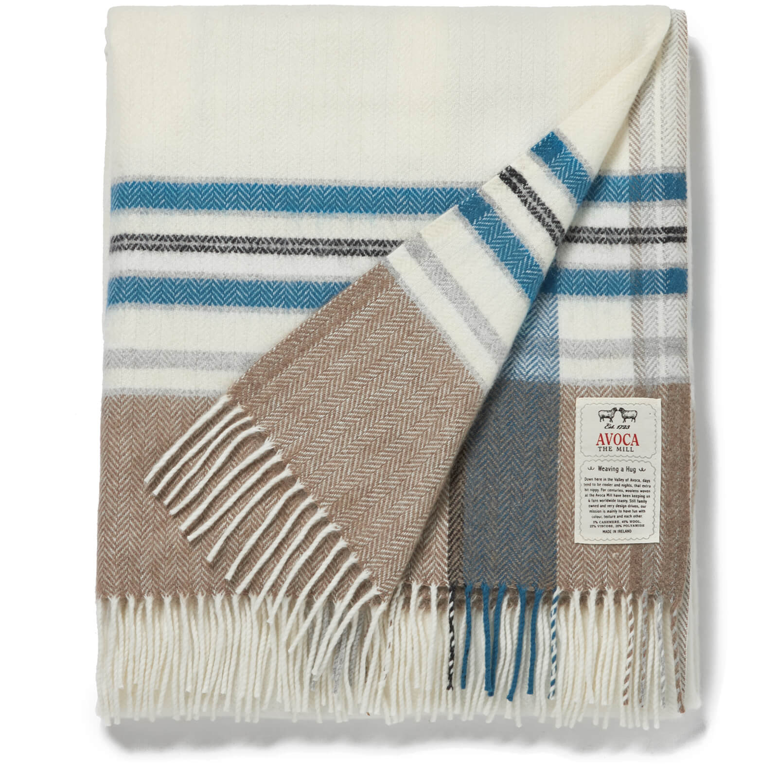 Avoca Cashmere Blend Arctic Throw - 142 x 183cm